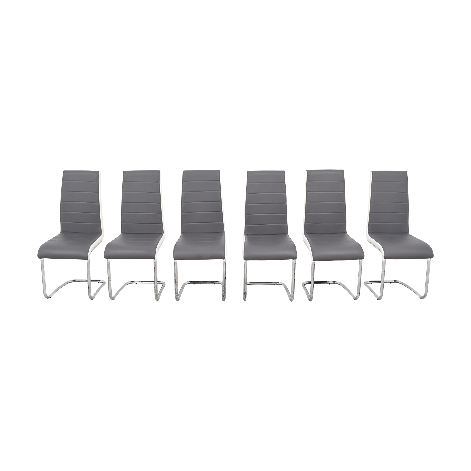 shop Steve Silver Gray and White Retro Dining Chairs Steve Silver Co Dining Chairs