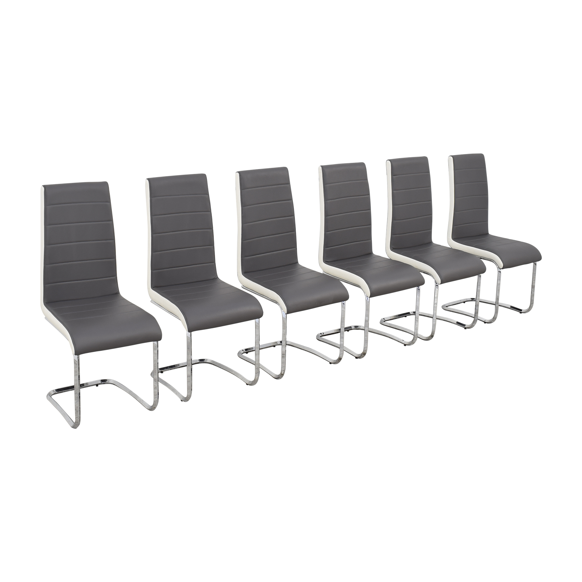 shop Steve Silver Co Steve Silver Gray and White Retro Dining Chairs online