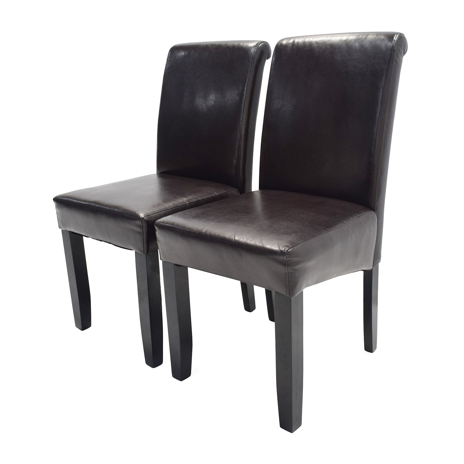 72 OFF Unknown Brand Espresso Leather Dining Chairs  : espresso leather dining chairs used from furnishare.com size 1500 x 1500 jpeg 237kB