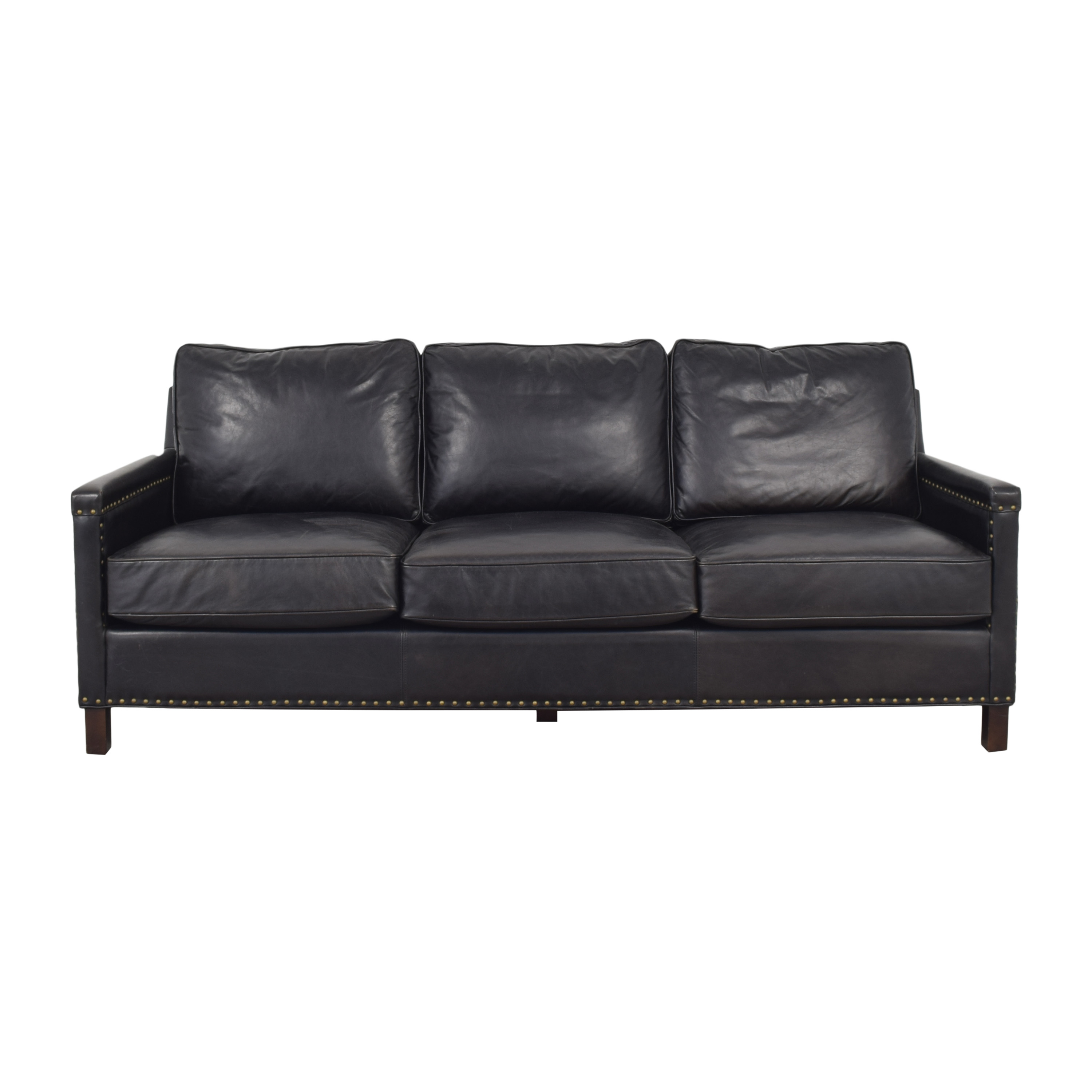 buy Pottery Barn Tyler Leather Square Arm Sofa Pottery Barn