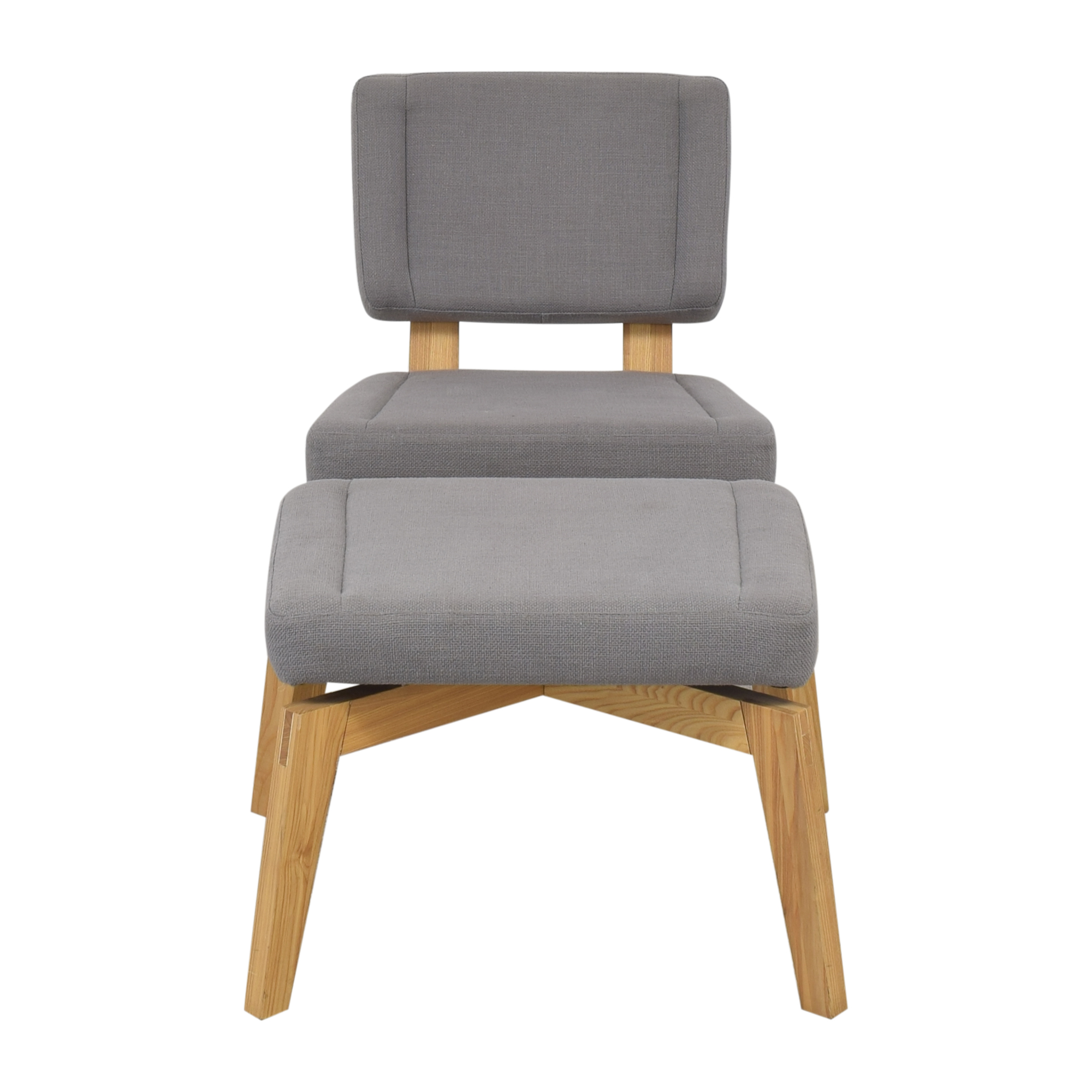 shop CB2 CB2 Lounge Chair with Ottoman online