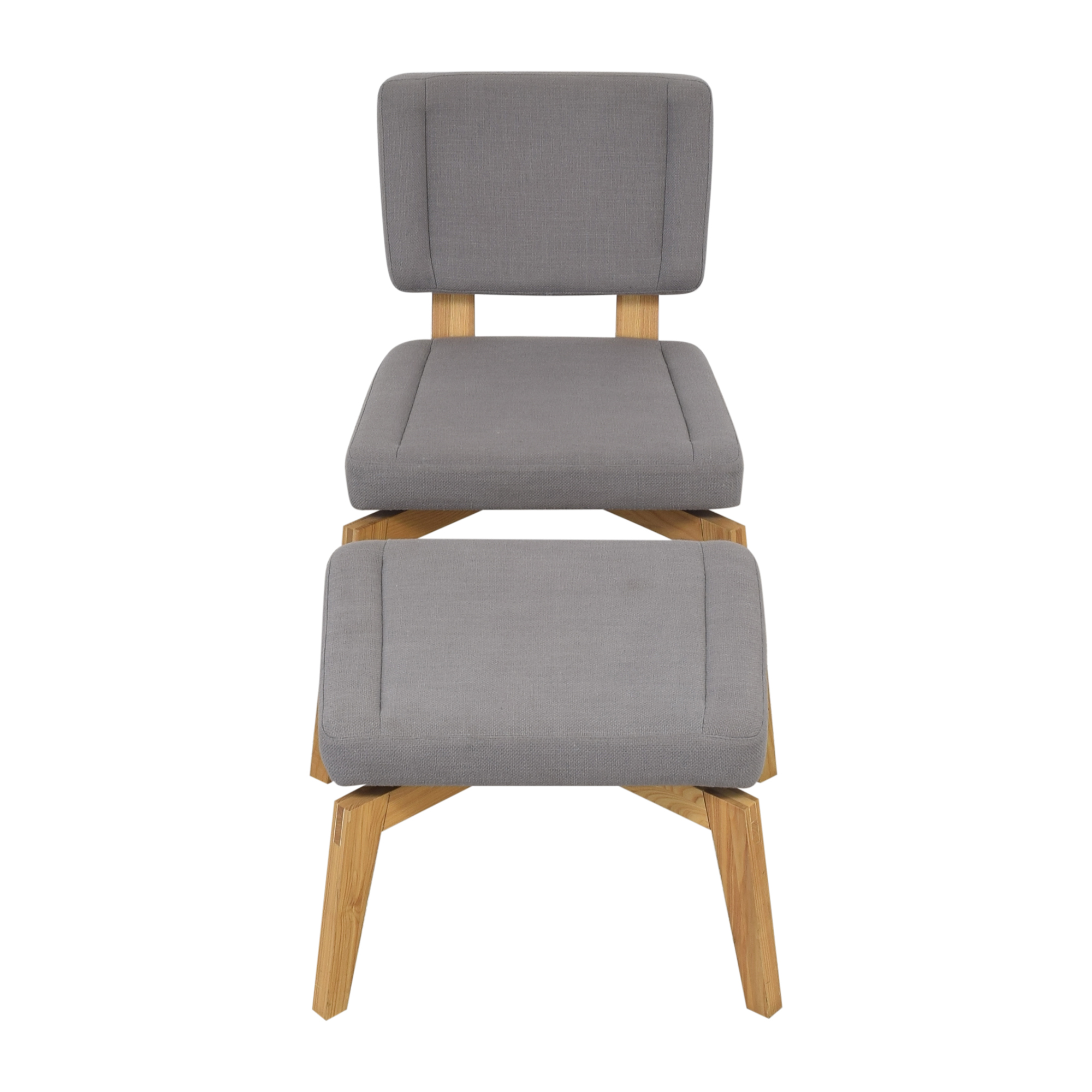 CB2 CB2 Lounge Chair with Ottoman Accent Chairs
