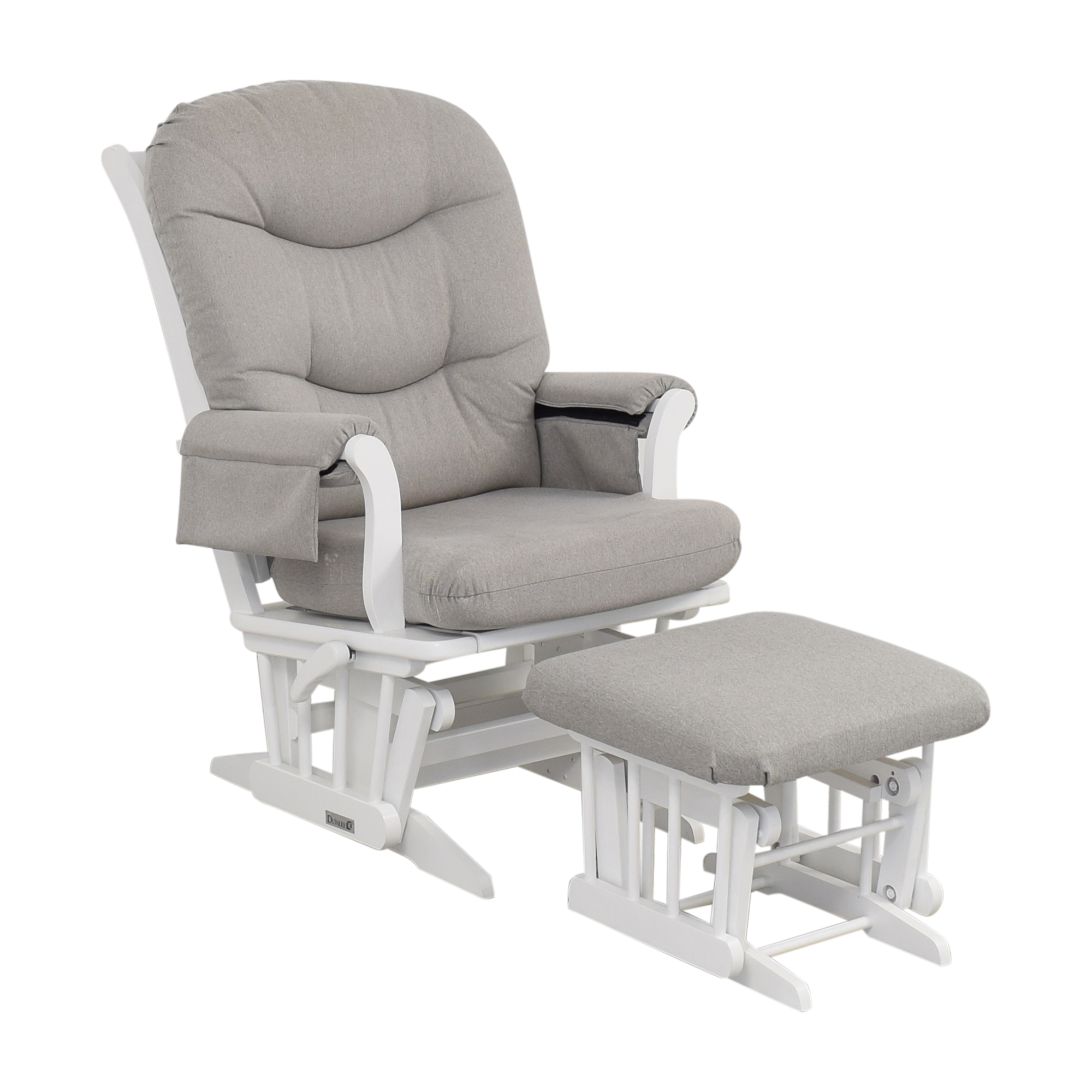 shop Dutailier Multi-Position Reclining Sleigh Glider and Nursing Ottoman Dutailier Chairs