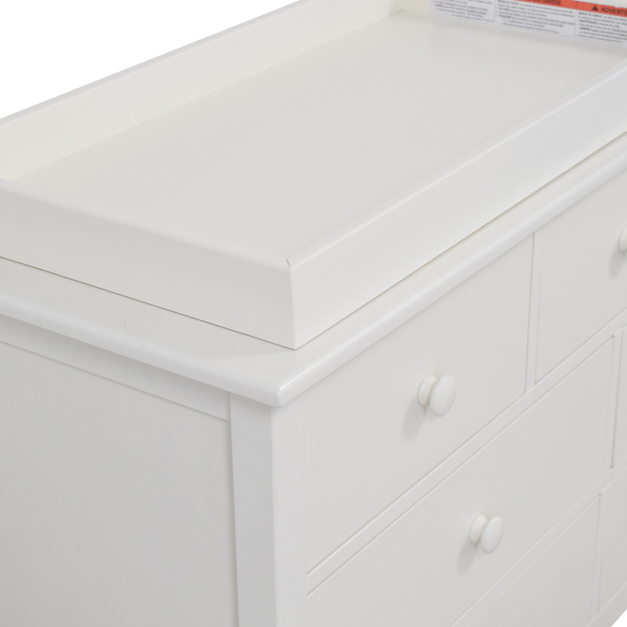 buy Pottery Barn Kids Pottery Barn Kids Kendall Extra-Wide Nursery Dresser and Topper online