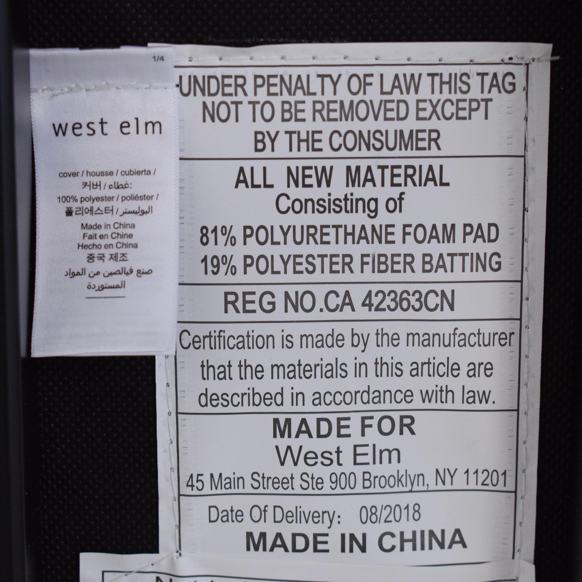 West Elm West Elm Box Frame Upholstered Bench nj