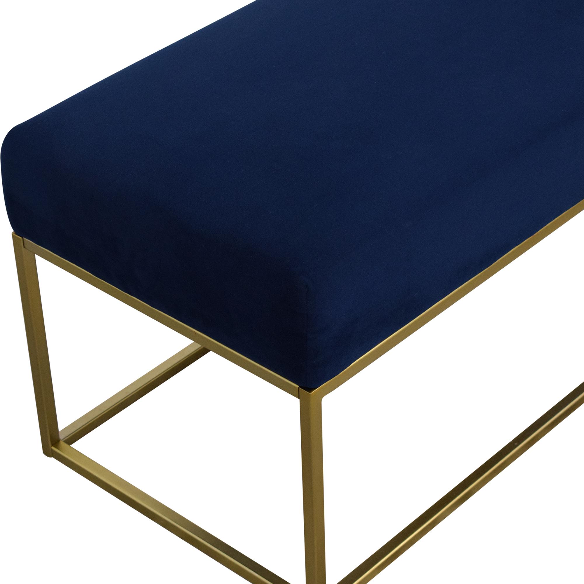 buy West Elm West Elm Box Frame Upholstered Bench online