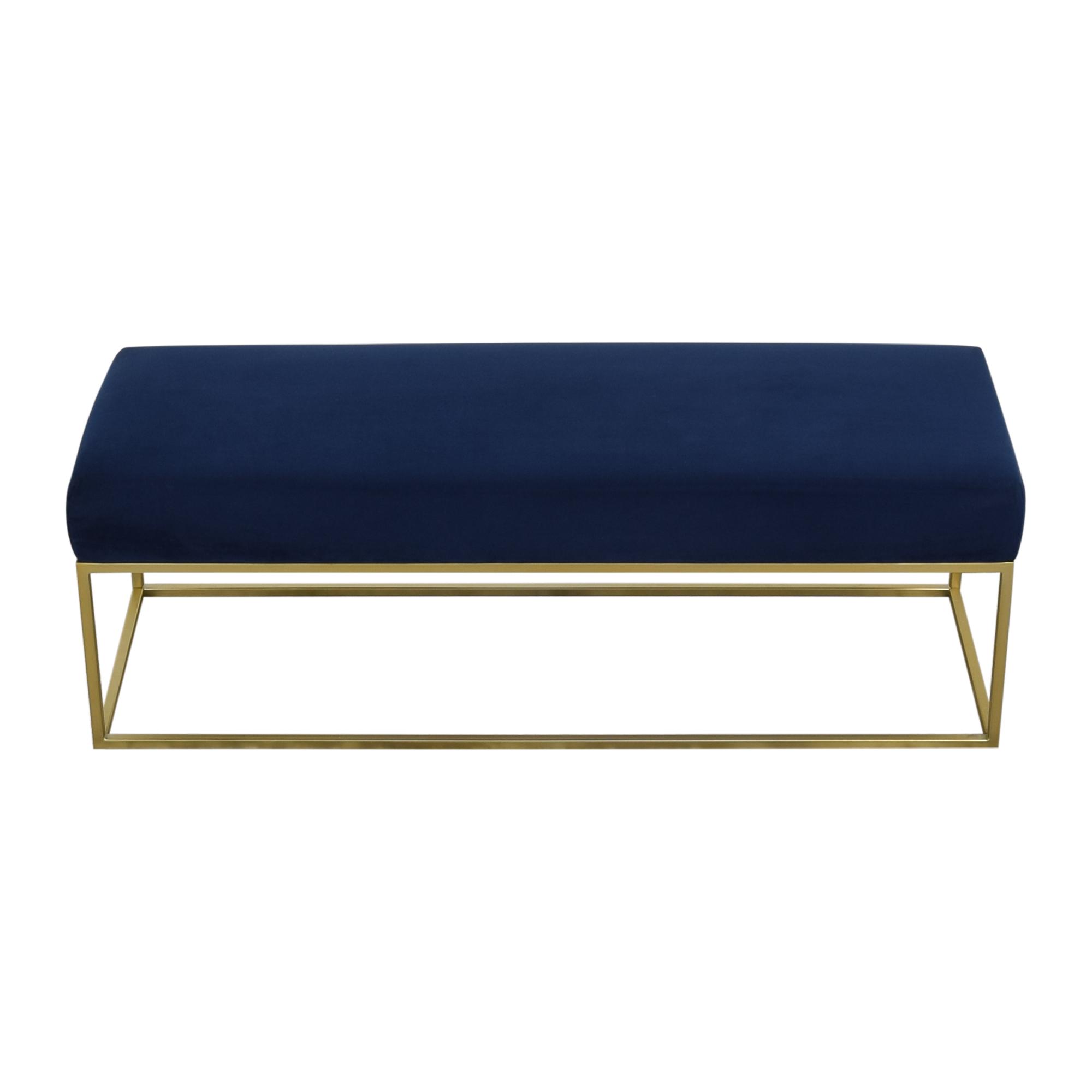 shop West Elm West Elm Box Frame Upholstered Bench online