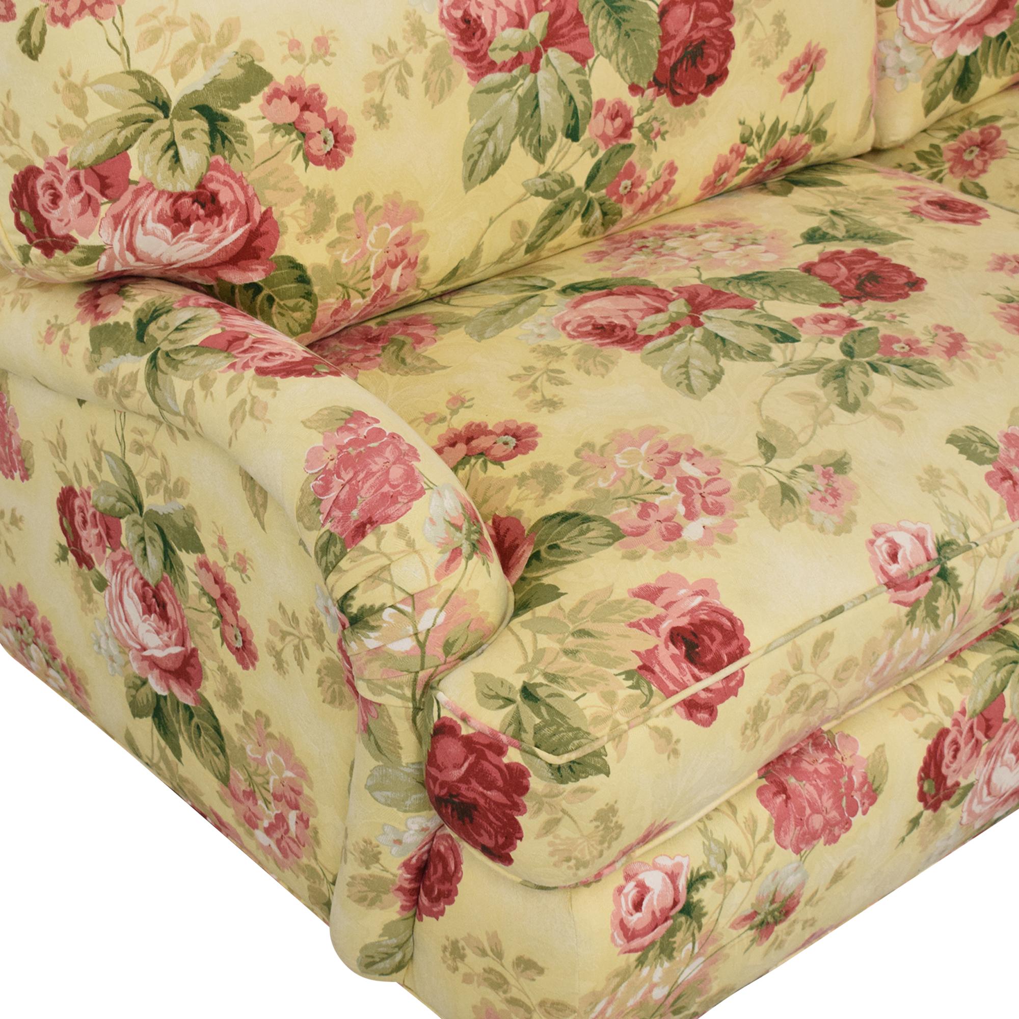 Greenbaum Interiors Greenbaum Two Cushion Sofa dimensions