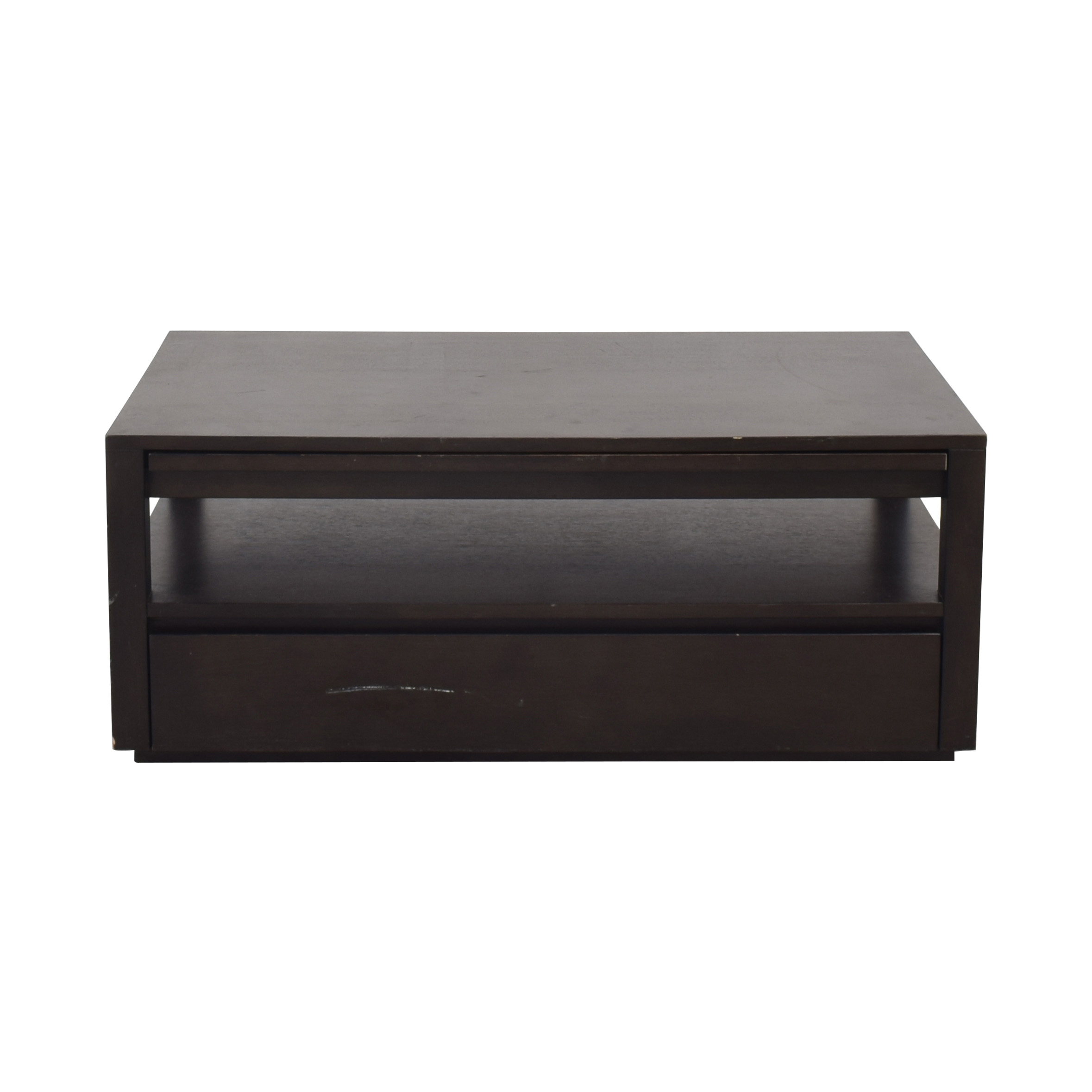 Crate & Barrel Expandable Coffee Table with Storage sale