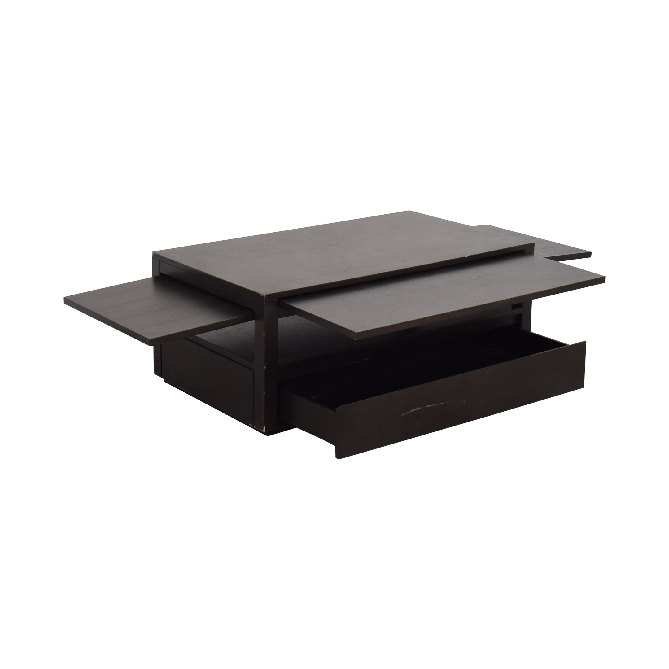 shop Crate & Barrel Expandable Coffee Table with Storage Crate & Barrel Tables