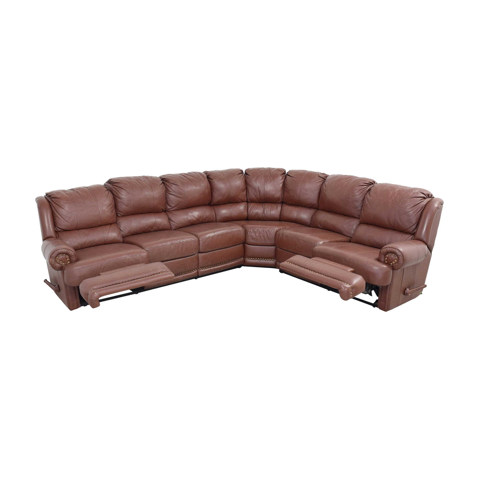 Elran Elran Sectional Sofa with Recliner Sectionals