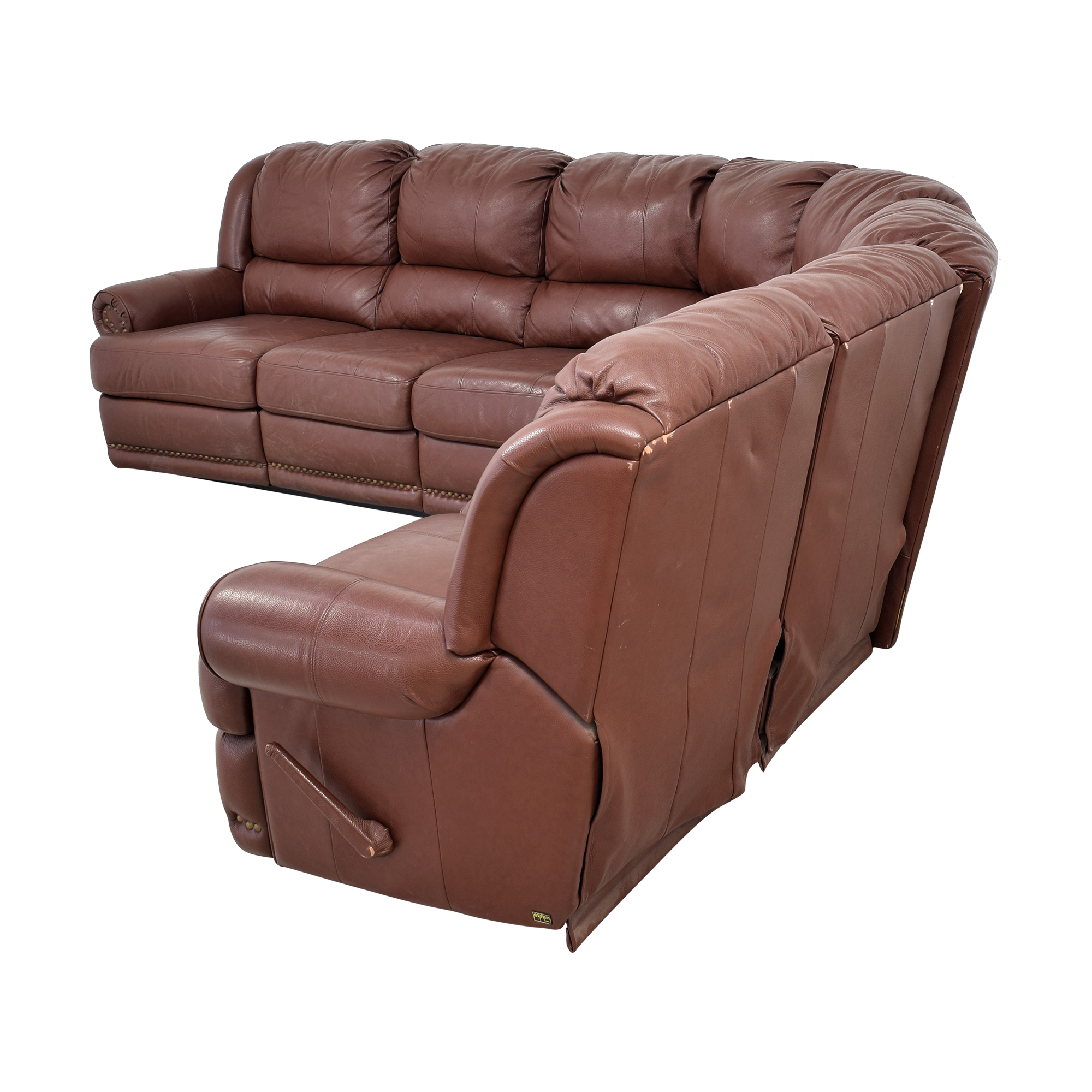Elran Elran Sectional Sofa with Recliner used