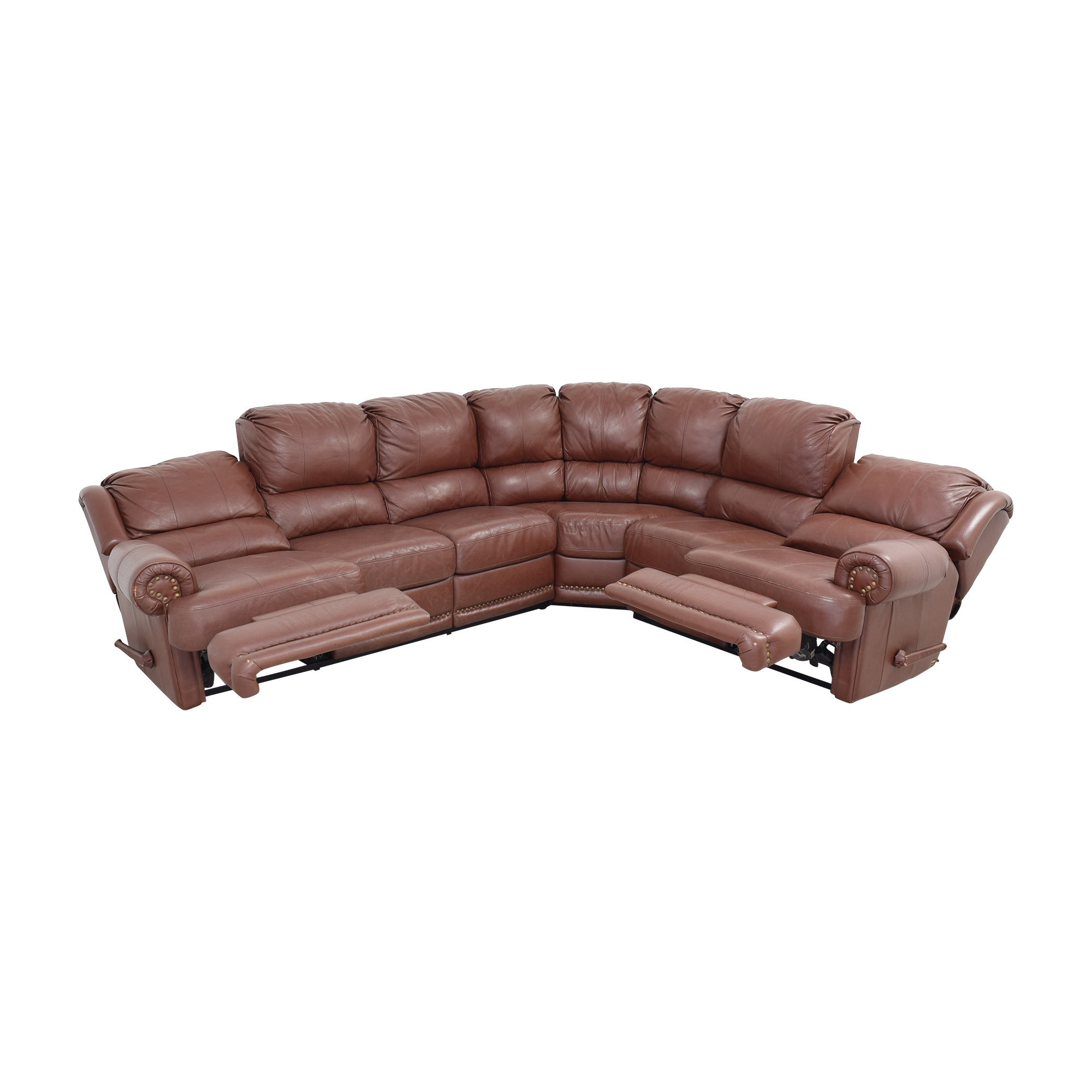 shop Elran Sectional Sofa with Recliner Elran Sofas