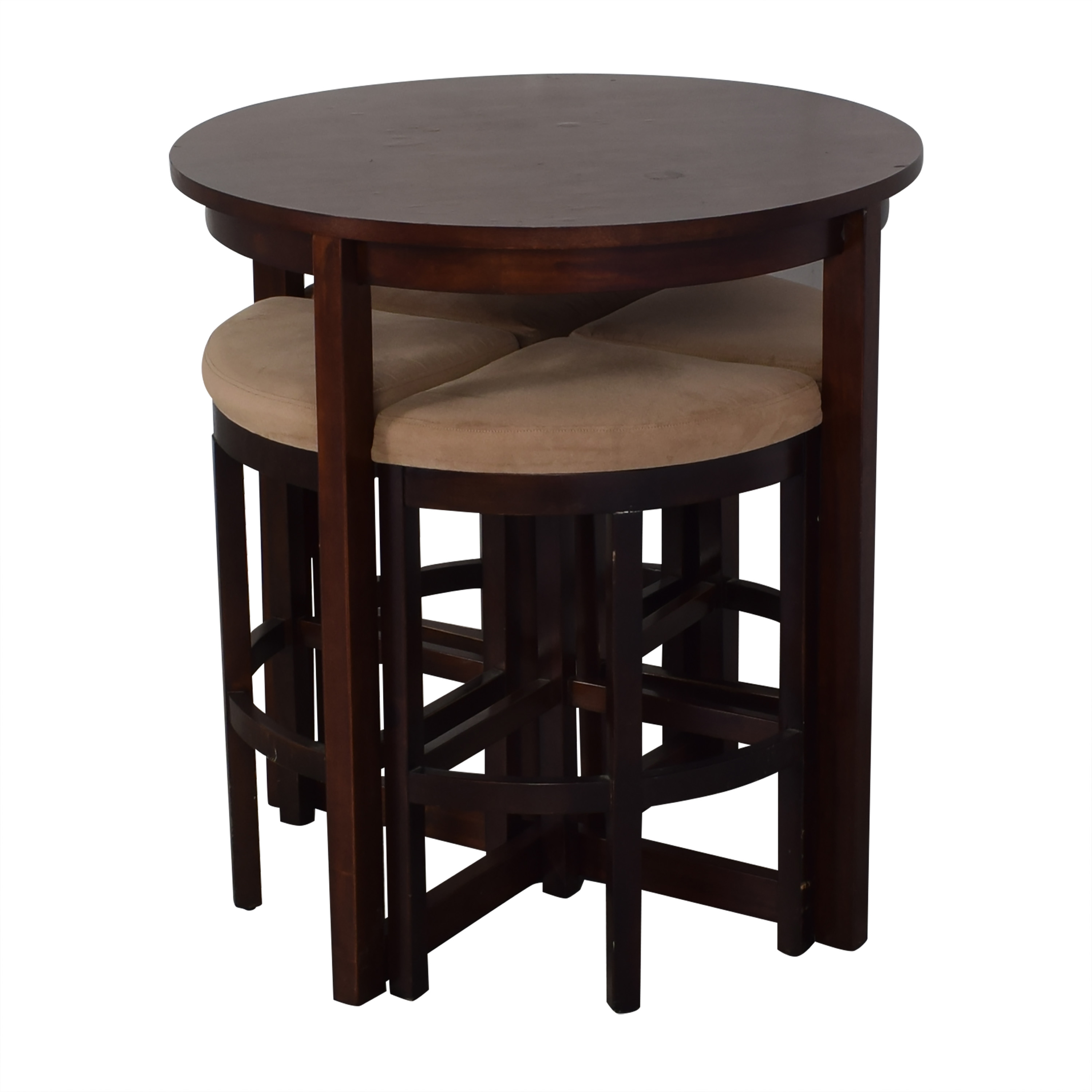 Raymour & Flanigan Raymour & Flanigan Round Table and Stools Dinner Tables