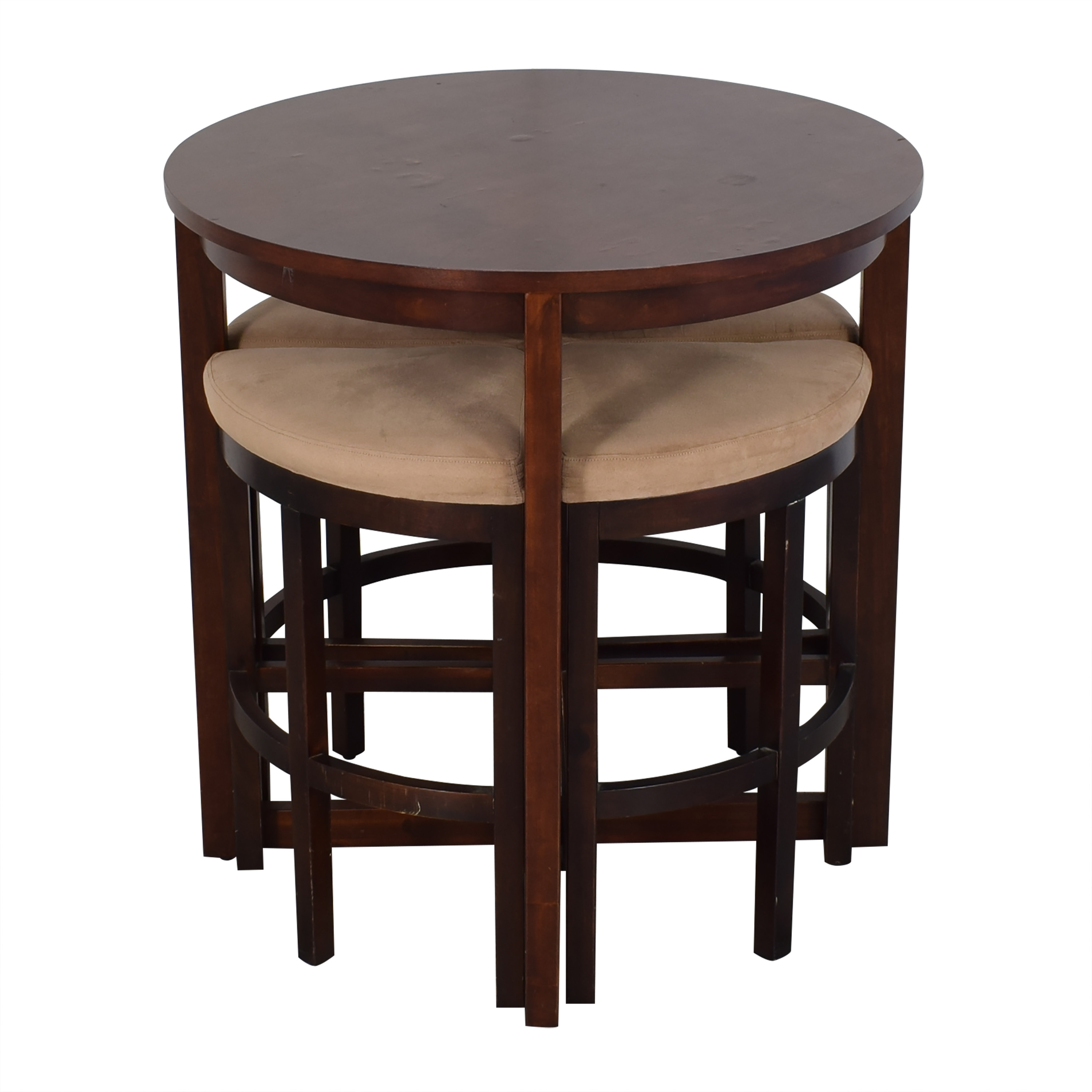 shop Raymour & Flanigan Round Table and Stools Raymour & Flanigan Tables