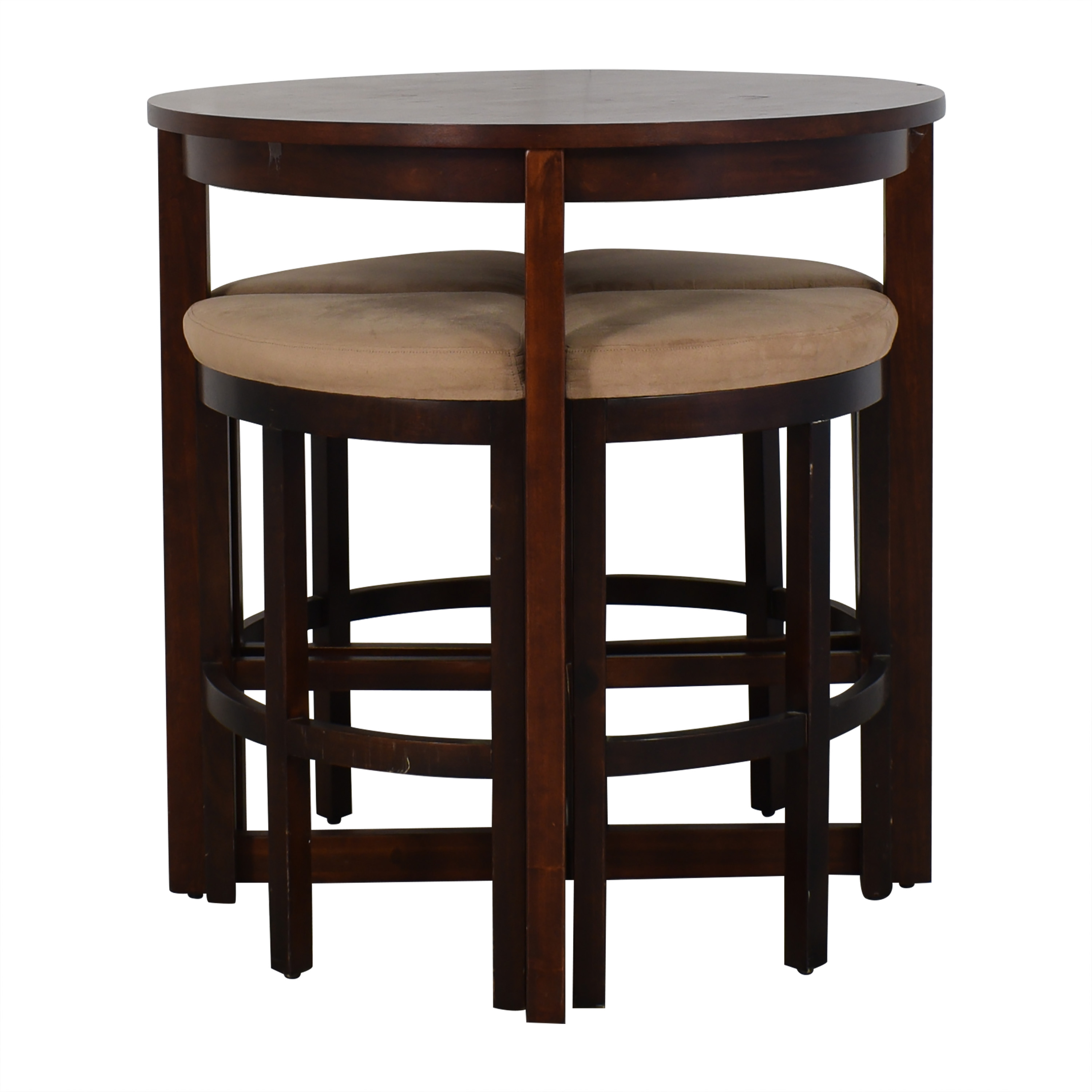 Raymour & Flanigan Raymour & Flanigan Round Table and Stools for sale