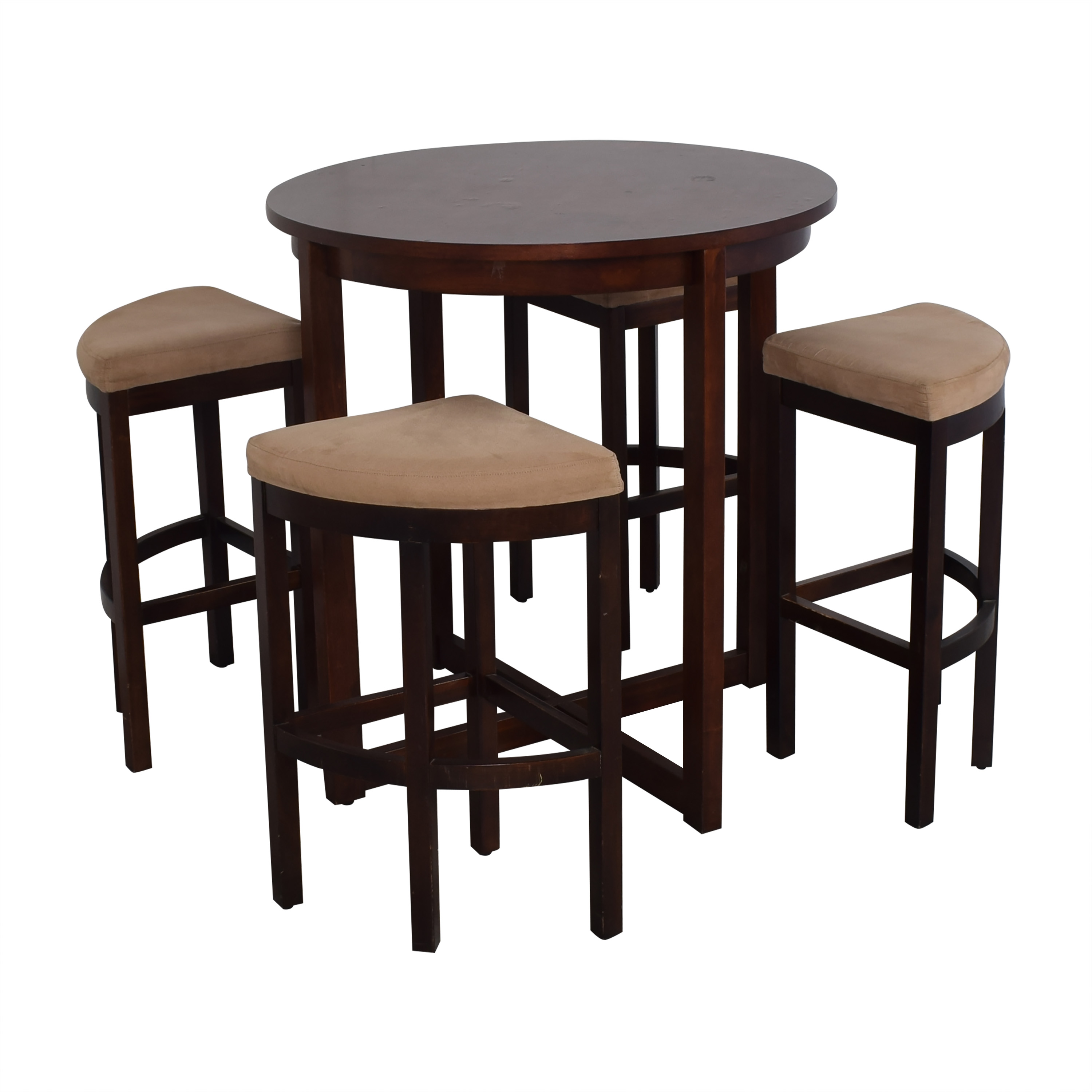 buy Raymour & Flanigan Round Table and Stools Raymour & Flanigan Dinner Tables