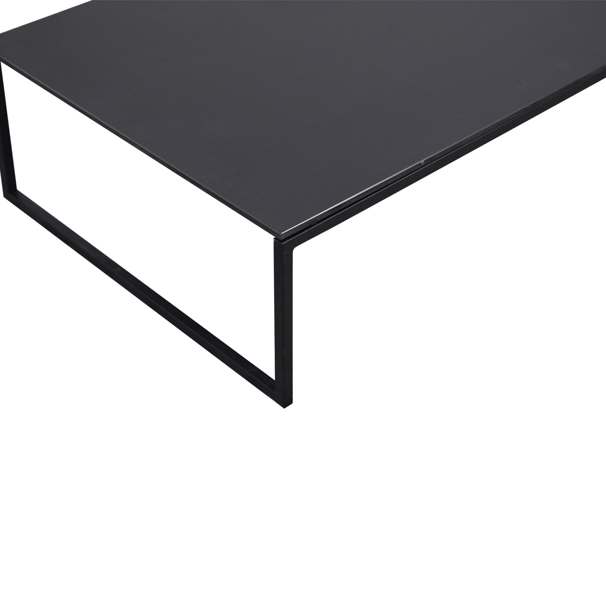 shop Black Glass & Metal Coffee Table  Tables