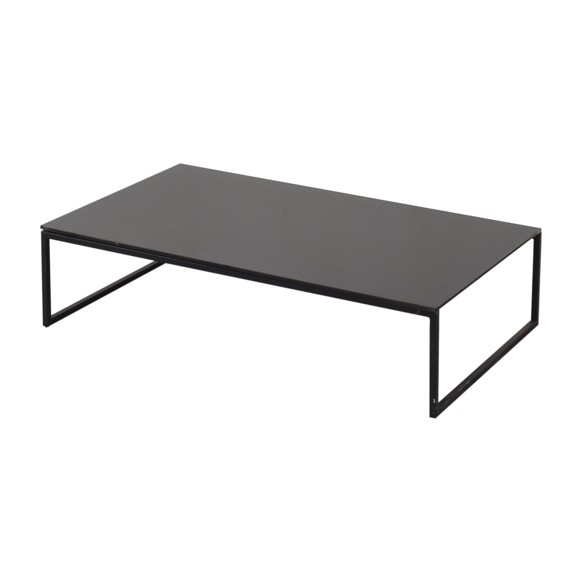 Black Glass & Metal Coffee Table pa