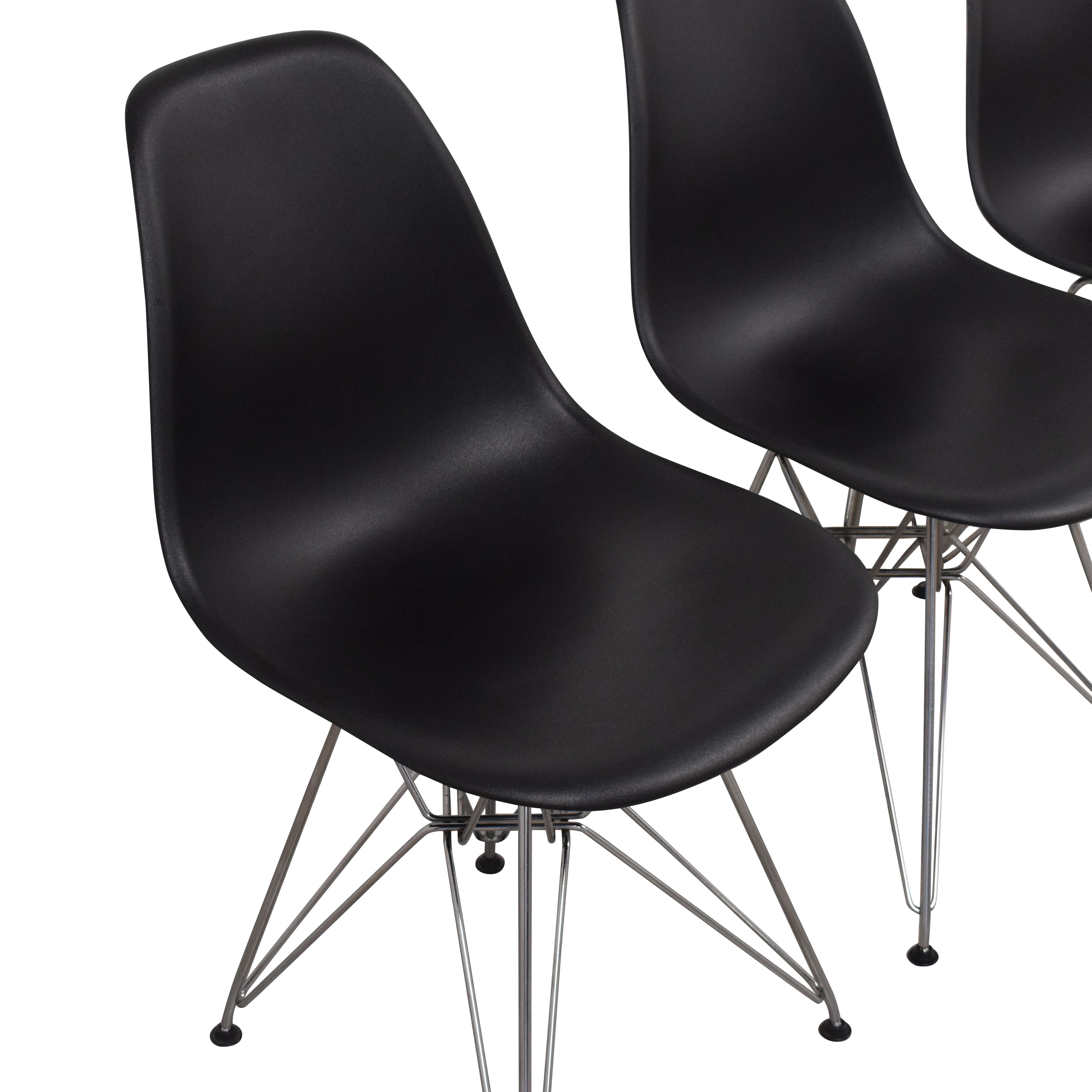 Herman Miller Eames Molded Plastic Wirebase Chairs / Accent Chairs