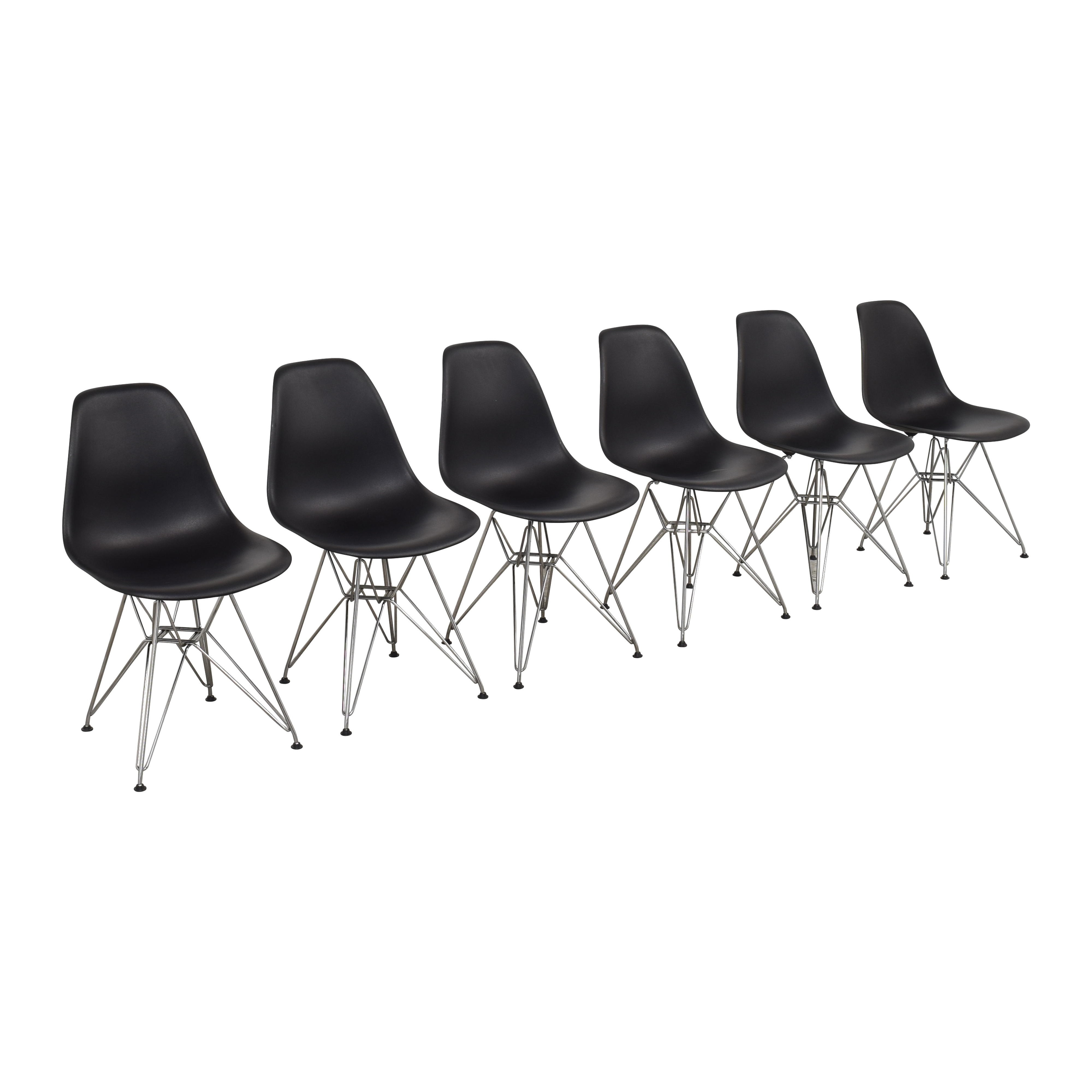 Herman Miller Herman Miller Eames Molded Plastic Wirebase Chairs for sale
