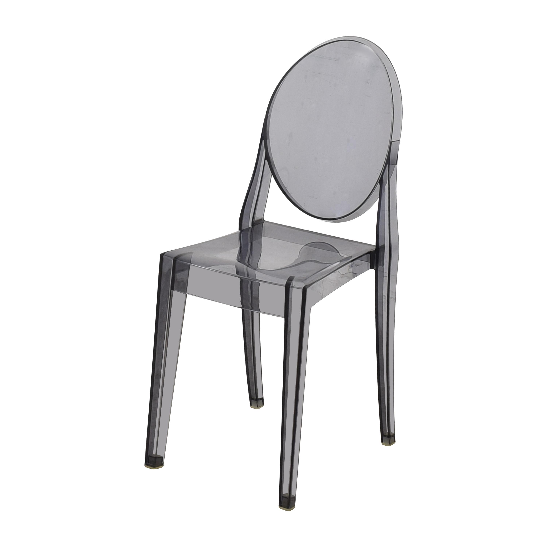 Kartell Design Within Reach Kartell Victoria Ghost Chairs dark grey