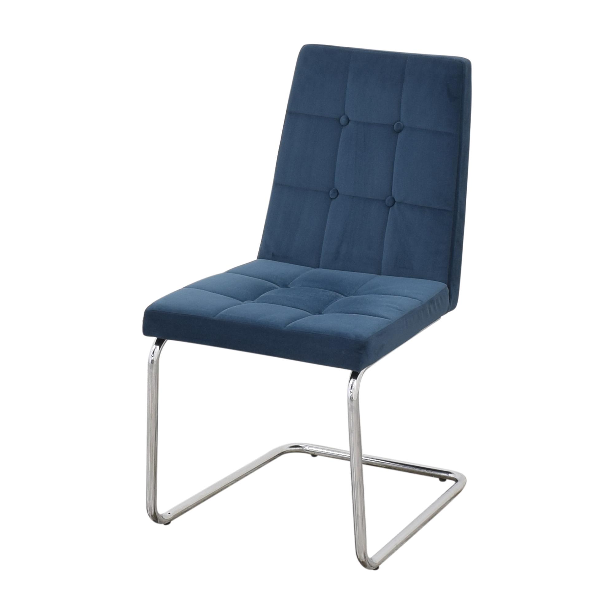 CB2 CB2 Roya Chairs Slate Blue for sale
