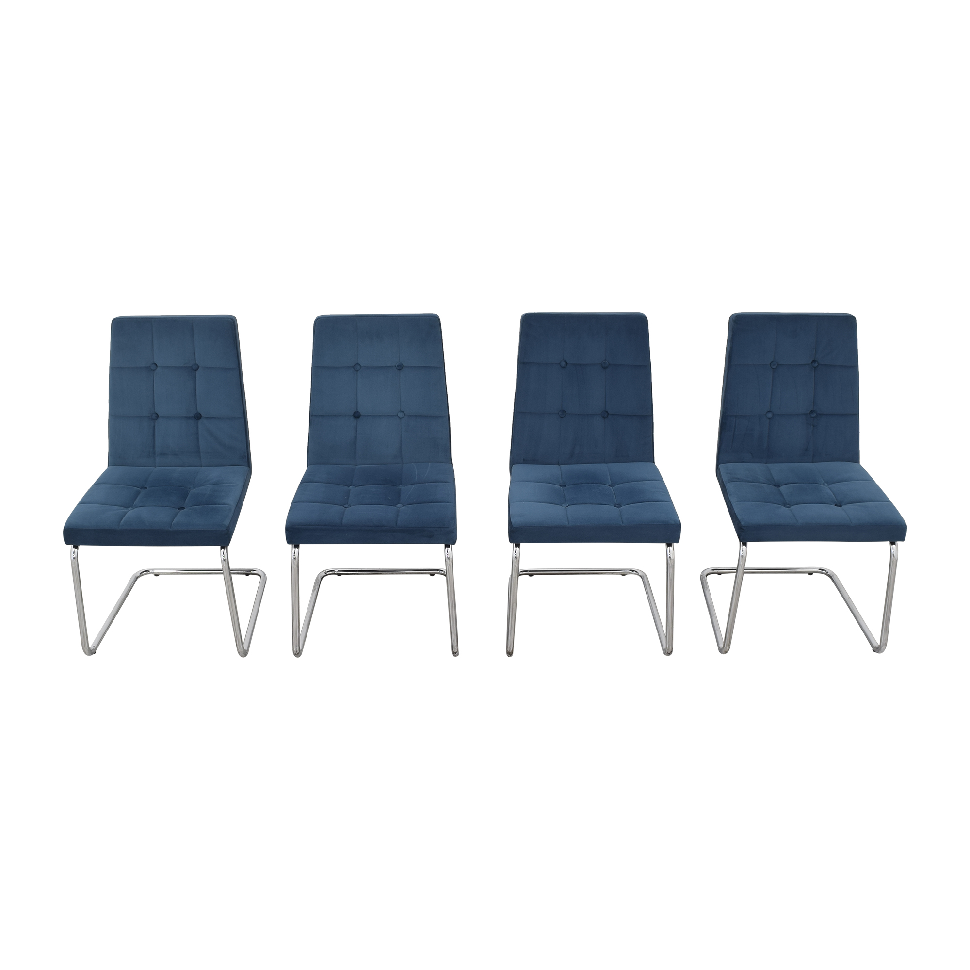 CB2 CB2 Roya Chairs Slate Blue used