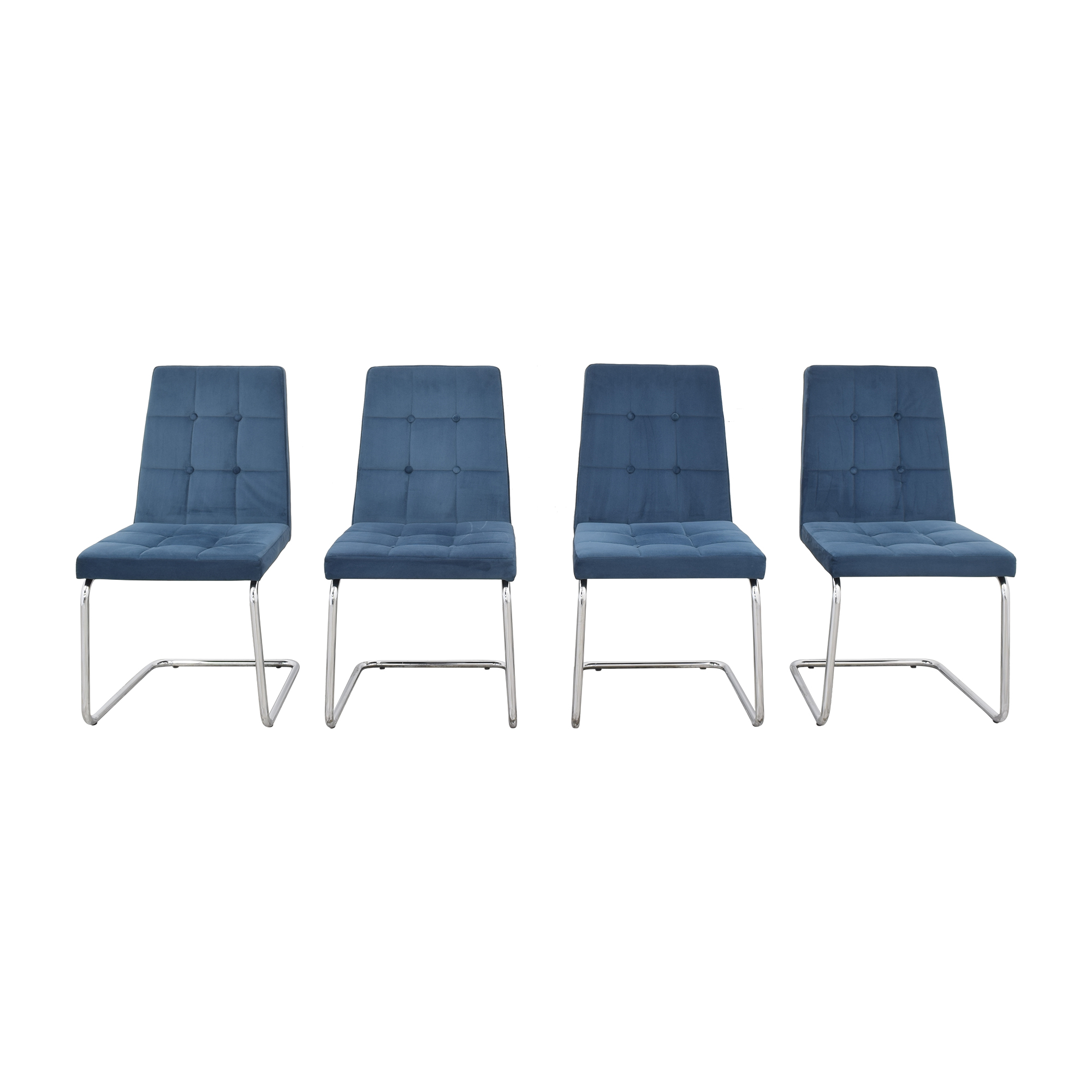 CB2 CB2 Roya Chairs Slate Blue for sale