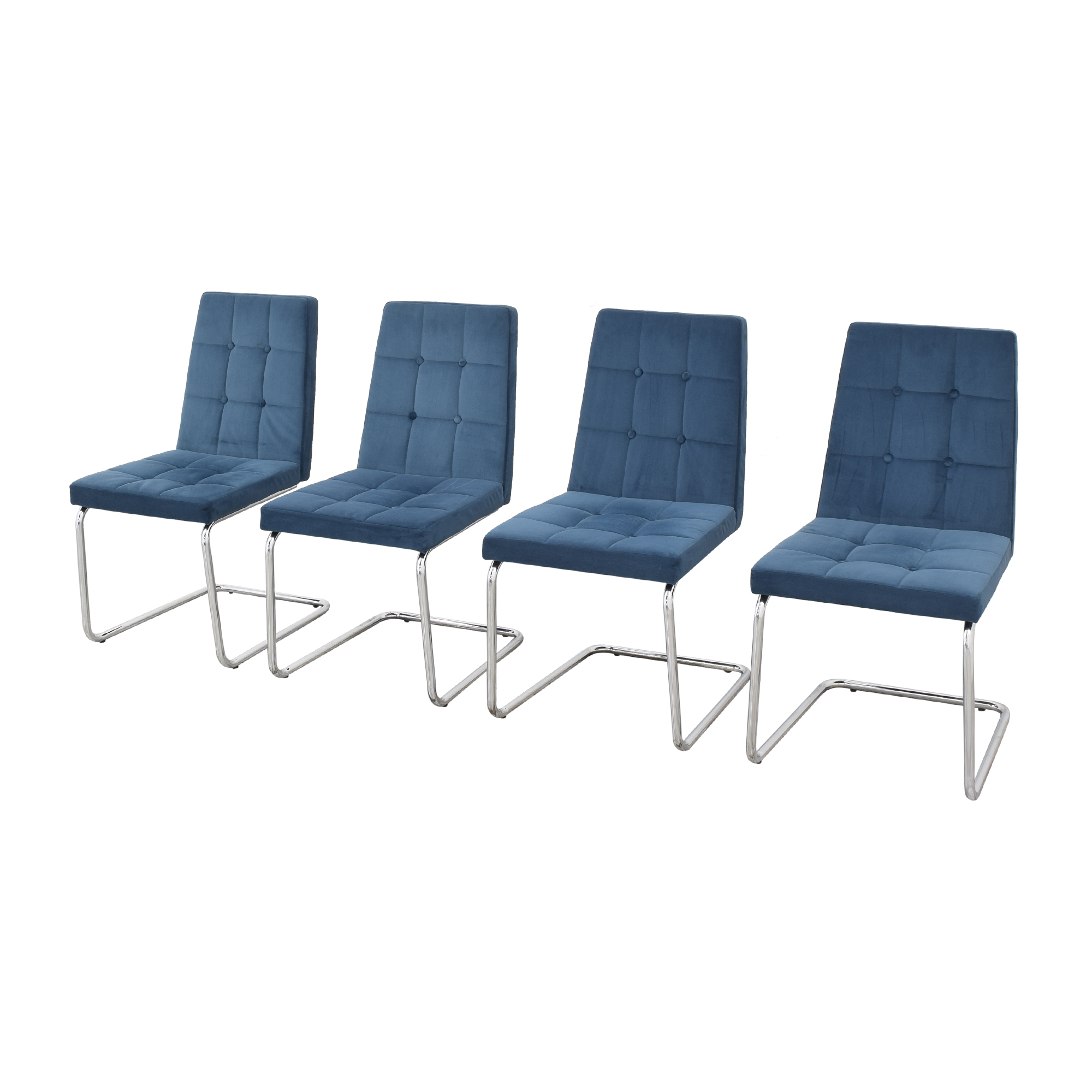CB2 CB2 Roya Chairs Slate Blue blue