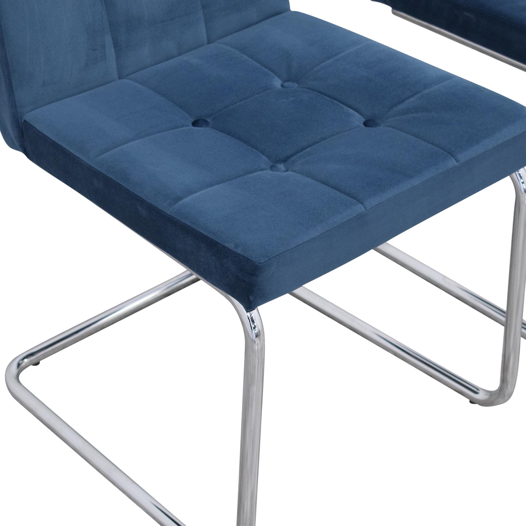 shop CB2 CB2 Roya Chairs Slate Blue online