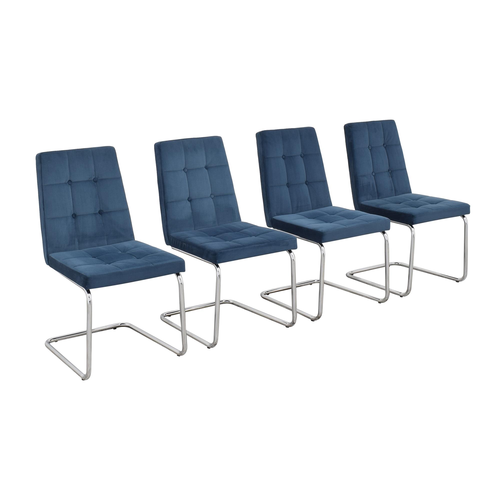CB2 CB2 Roya Chairs Slate Blue pa