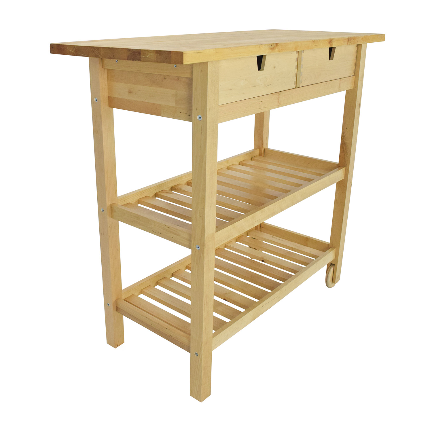 56 Off Ikea Forhoja Kitchen Cart Tables
