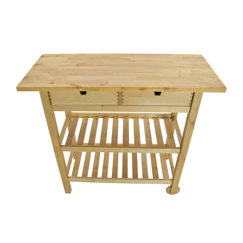 56 Off Ikea Forhoja Kitchen Cart Tables