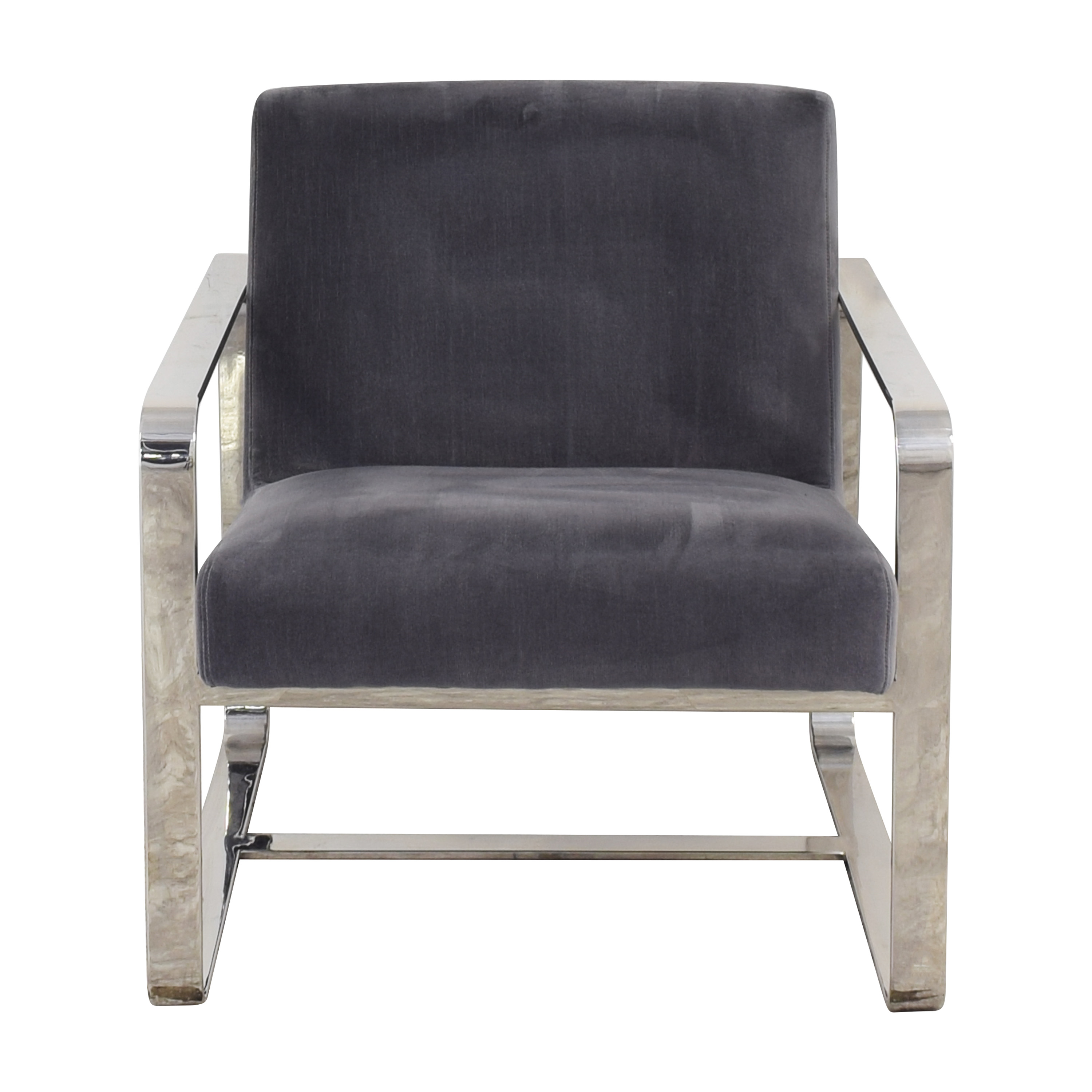 Restoration Hardware Restoration Hardware Miles Chair grey and silver