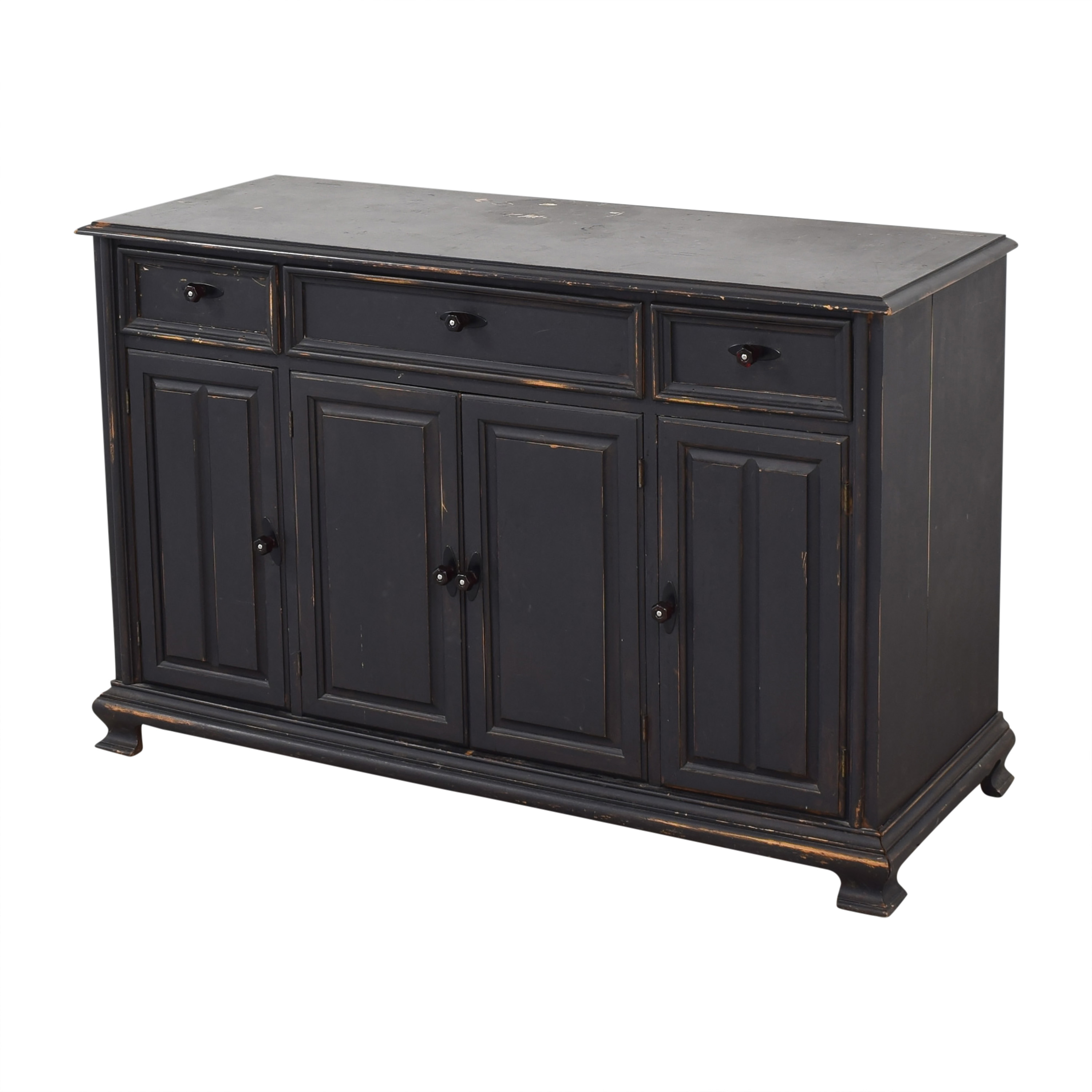 Vintage Weathered Buffet with Cabinets discount