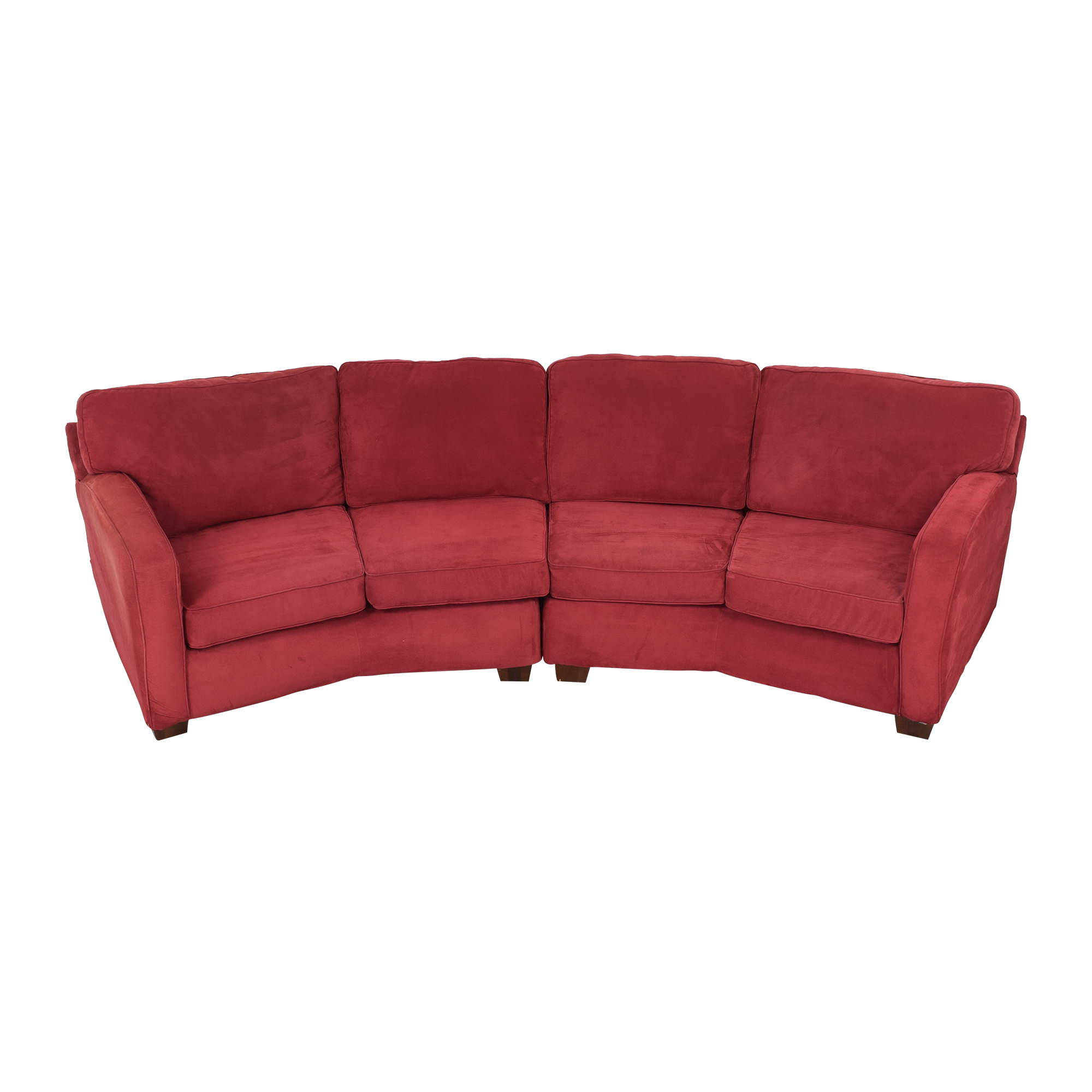 United Furniture United Furniture Curved Sectional Sofa