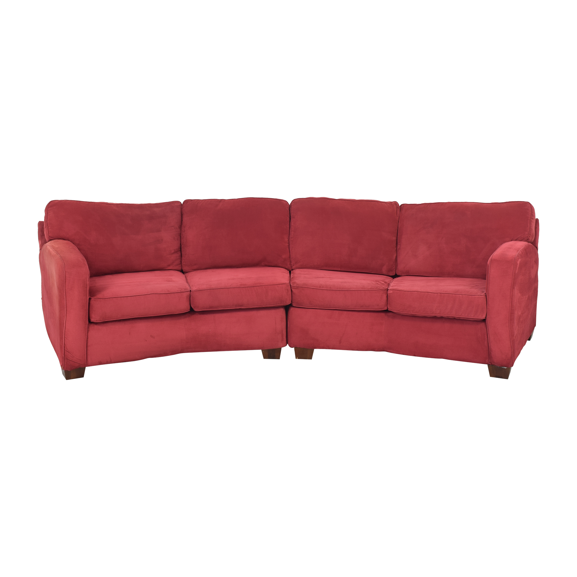 buy United Furniture Curved Sectional Sofa United Furniture Sofas