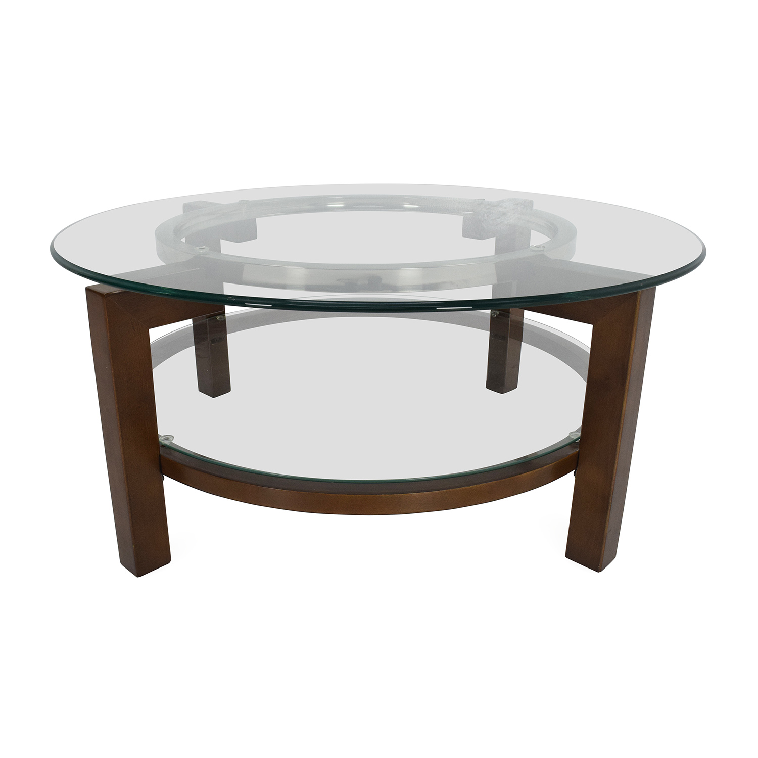 80 Off Cb2 Cb2 Glass Top Coffee Table Tables