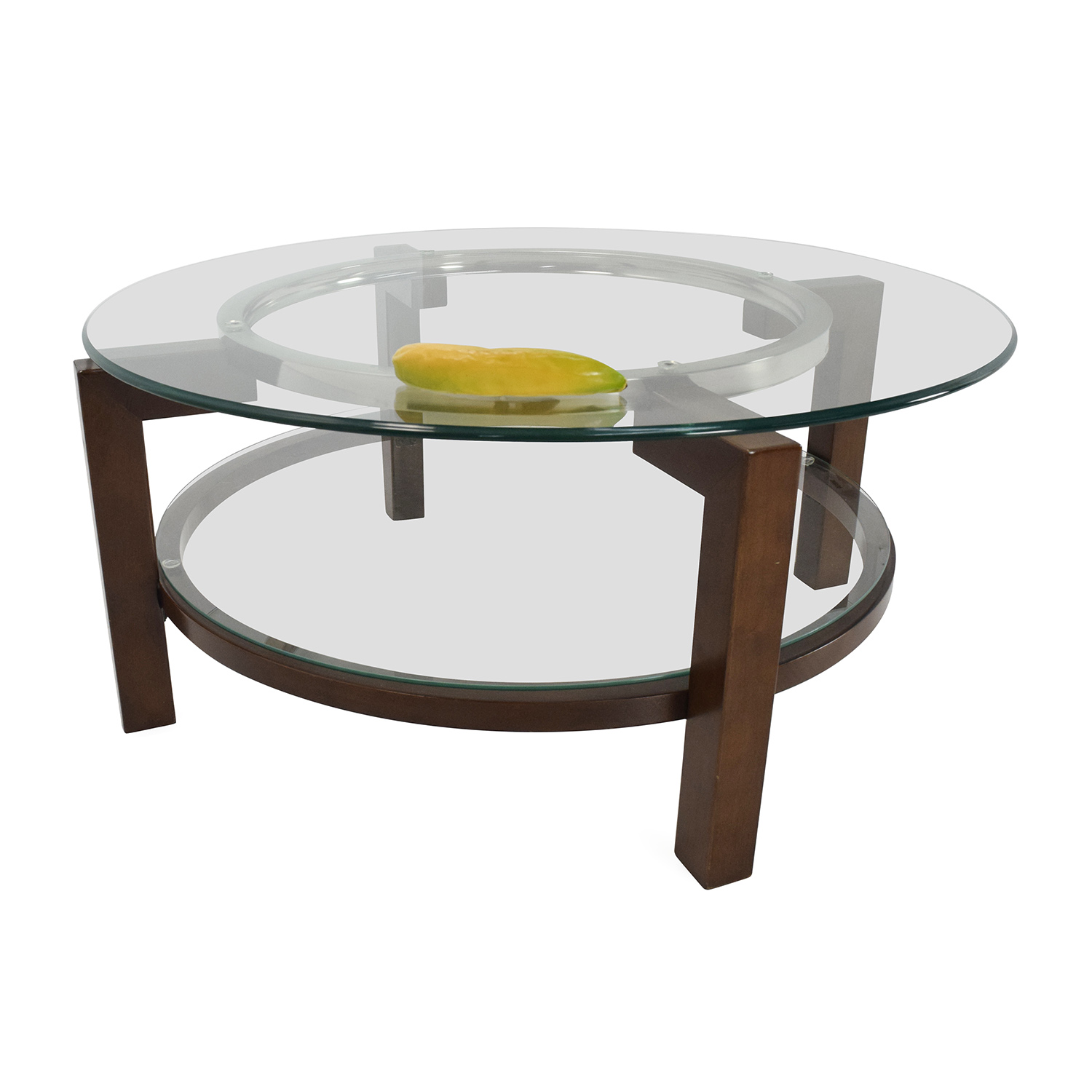 88 Off Macy 39 S Macy 39 S Glass Top Coffee Table Tables