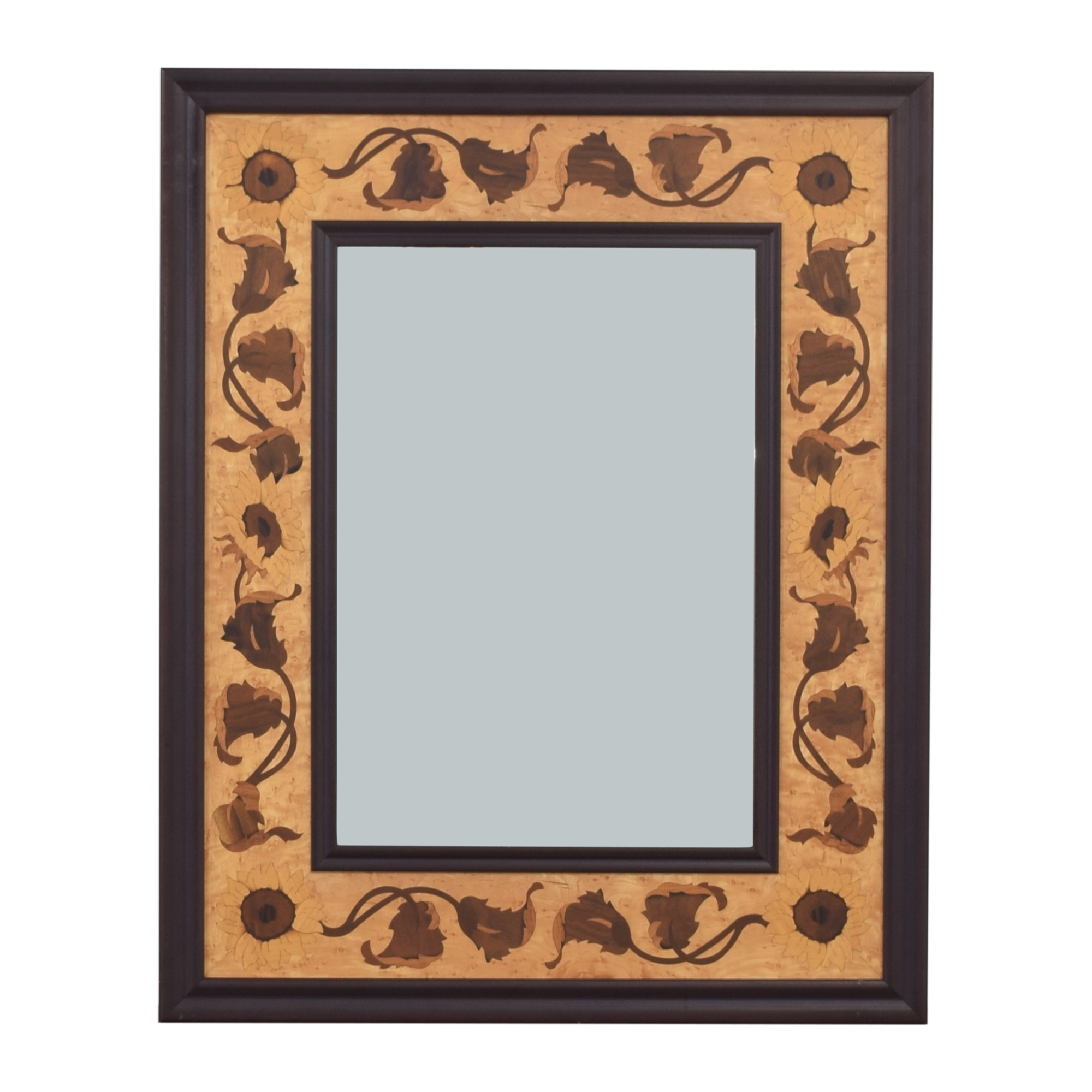 Wood Inlay Mirror on sale