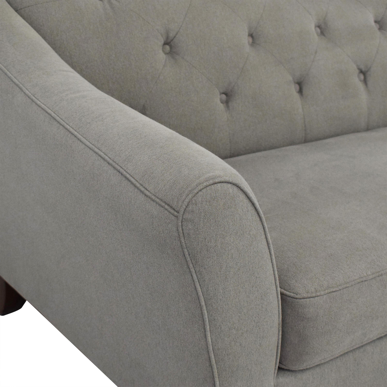 Mayc's Brindle Tufted Sofa sale