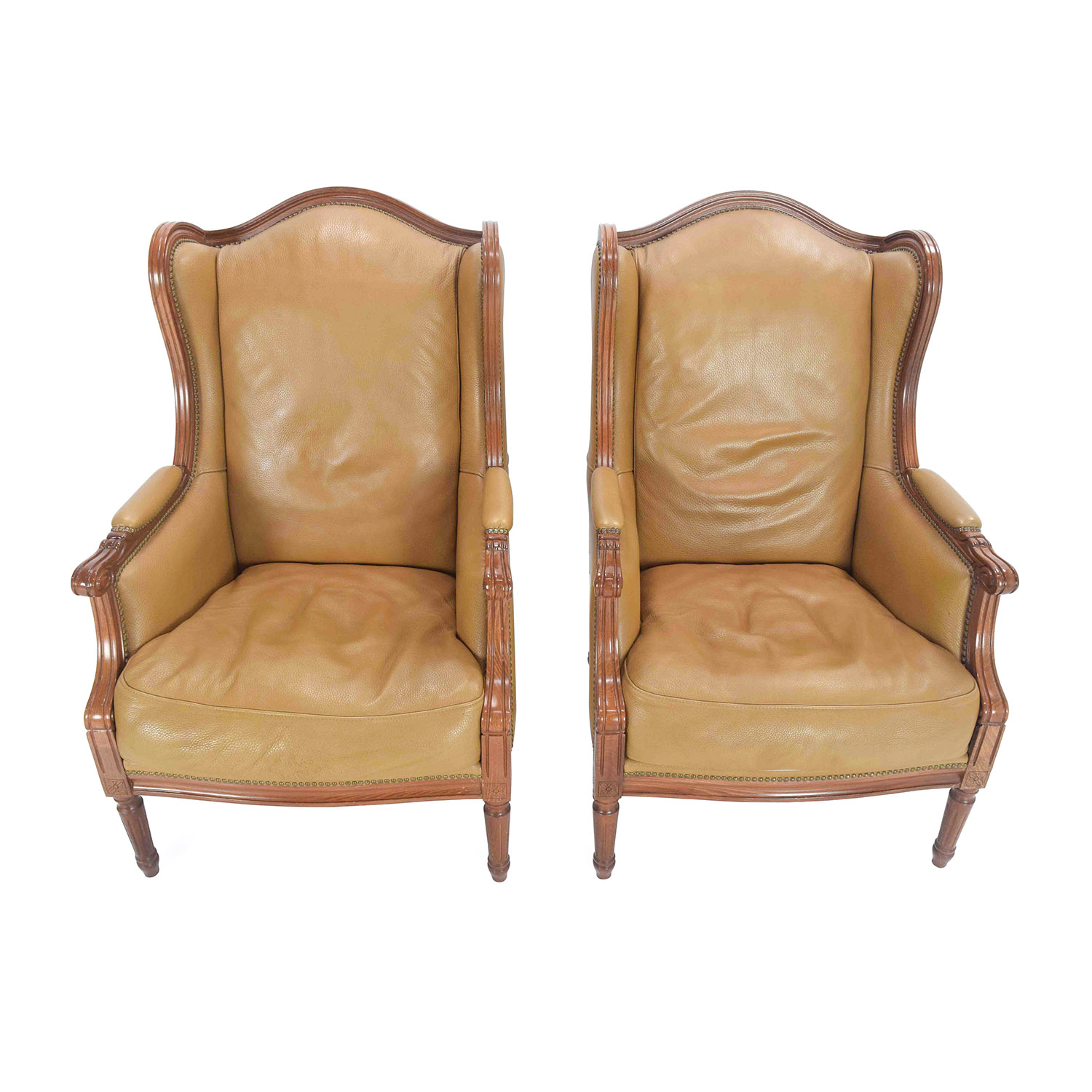 Antique Antique Leather Chairs coupon - 90% OFF - Lazy Boy Lazy Boy Multi-Colored Club Chairs / Chairs