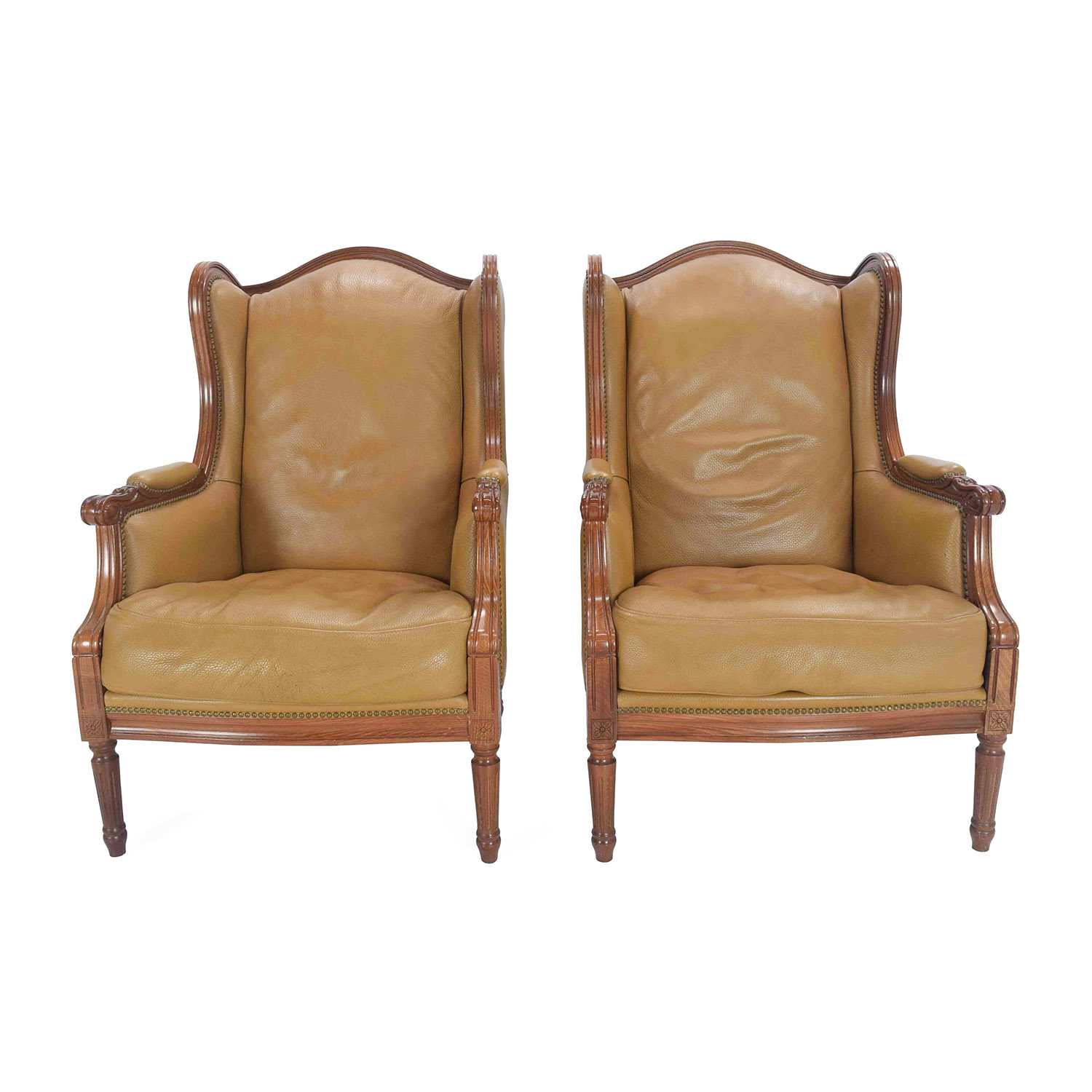 Antique Leather Chairs sale ... - 62% OFF - Antique Antique Leather Chairs / Chairs