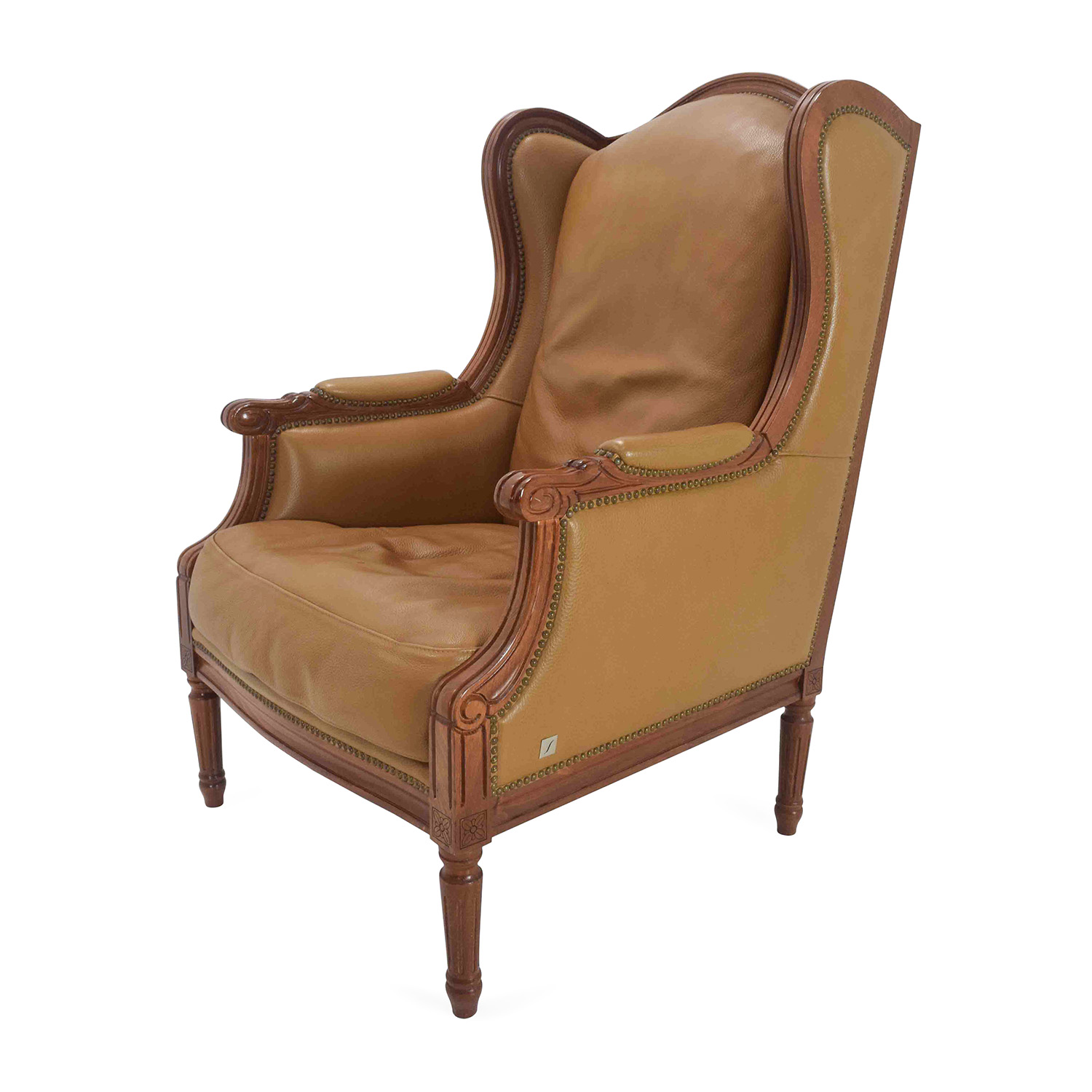 62 off antique antique leather chairs chairs for Antique leather chairs
