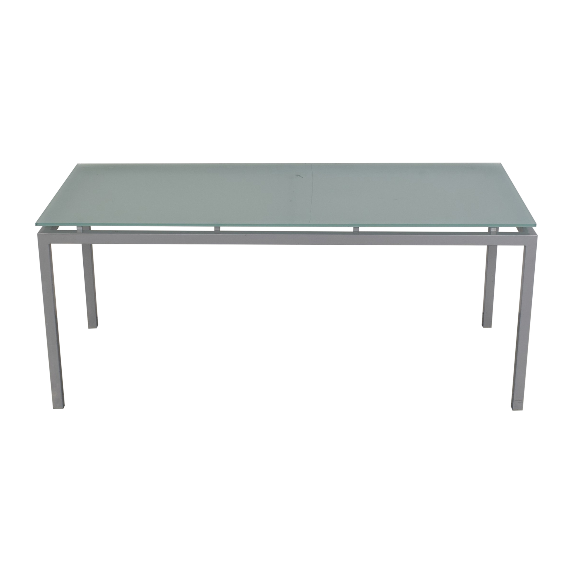 Aluminum and Glass Dinner Table for sale