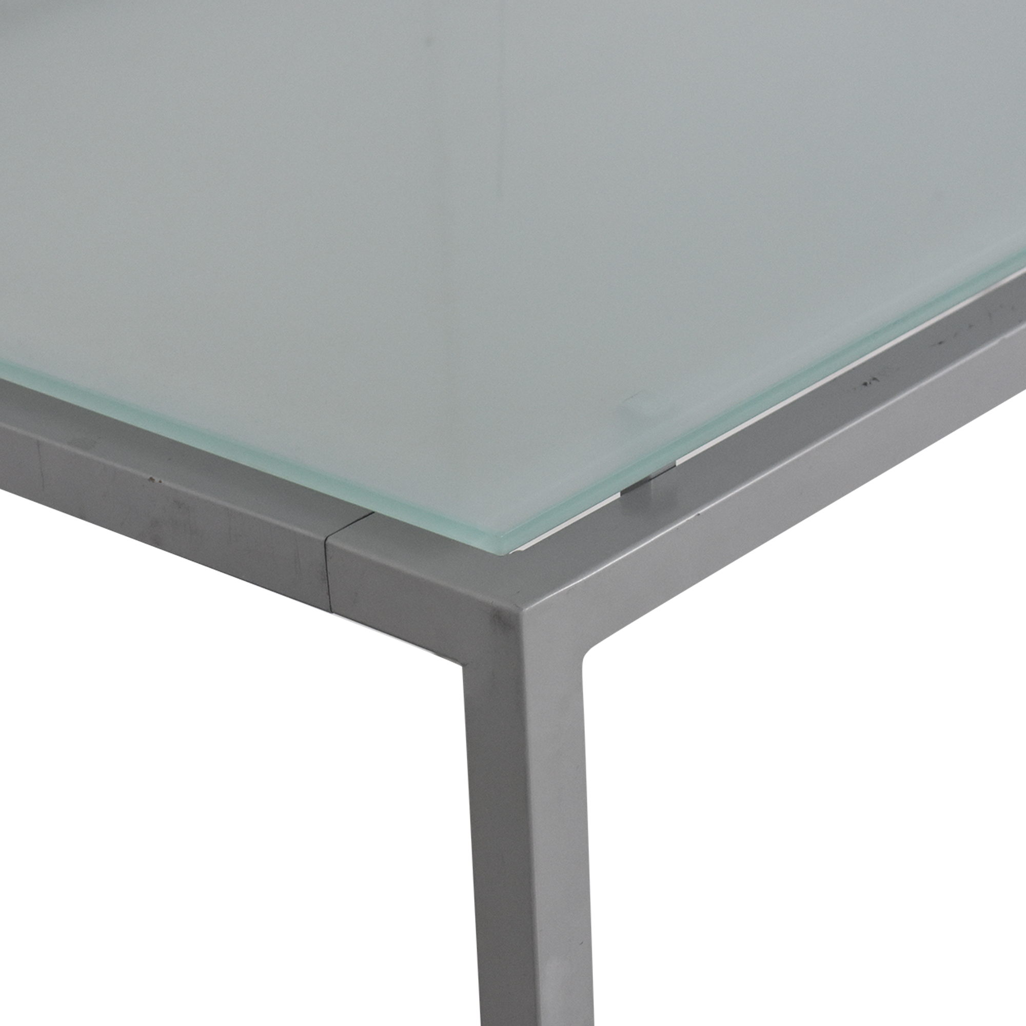 shop Aluminum and Glass Dinner Table  Tables