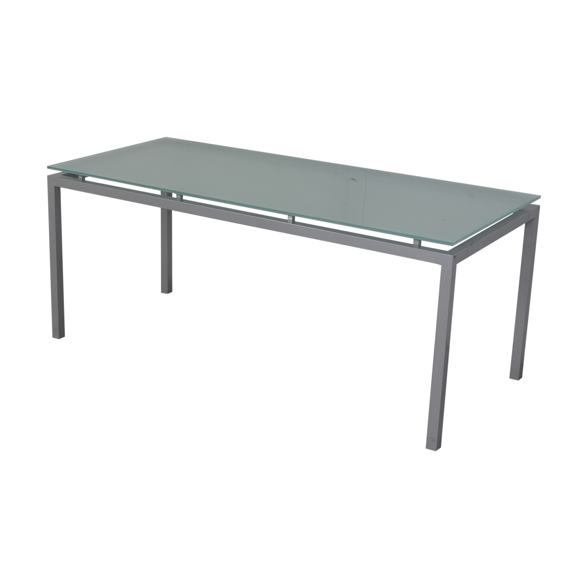 Aluminum and Glass Dinner Table coupon