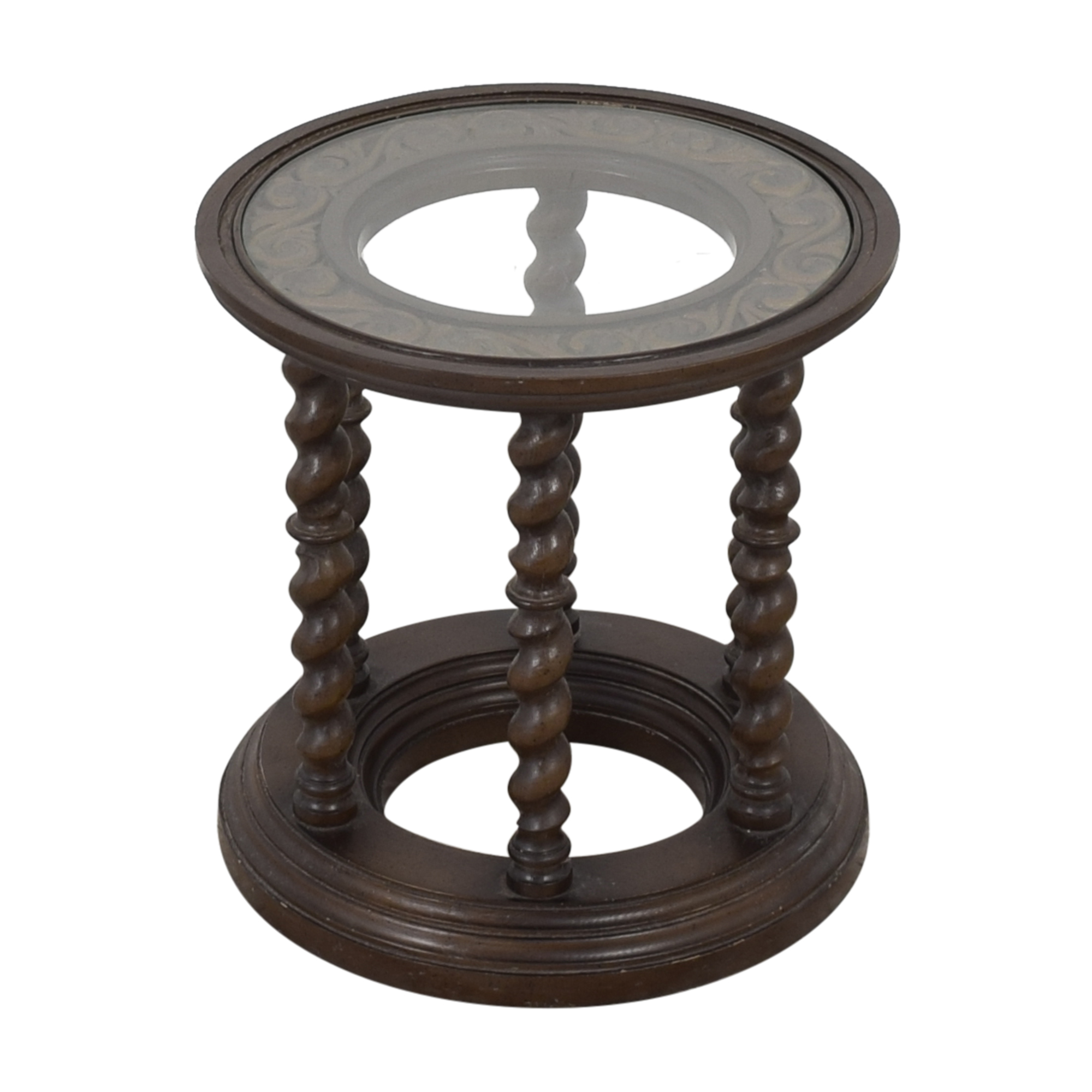 Circular Accent Table used