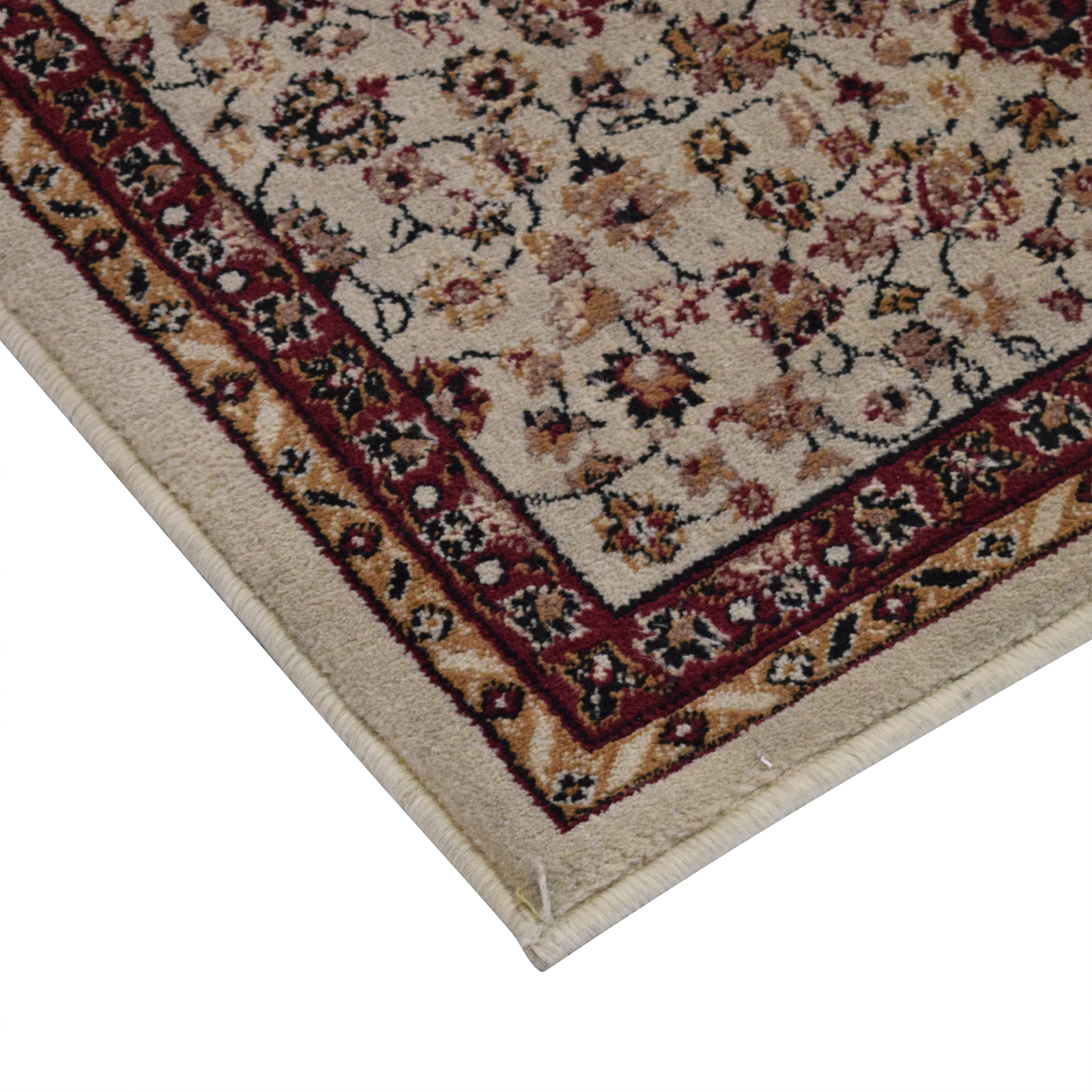 The Rug House Brown Rubber Backed Very Long Hallway Hall Runner Narrow Rugs Custom Length Sold and Priced Per Foot